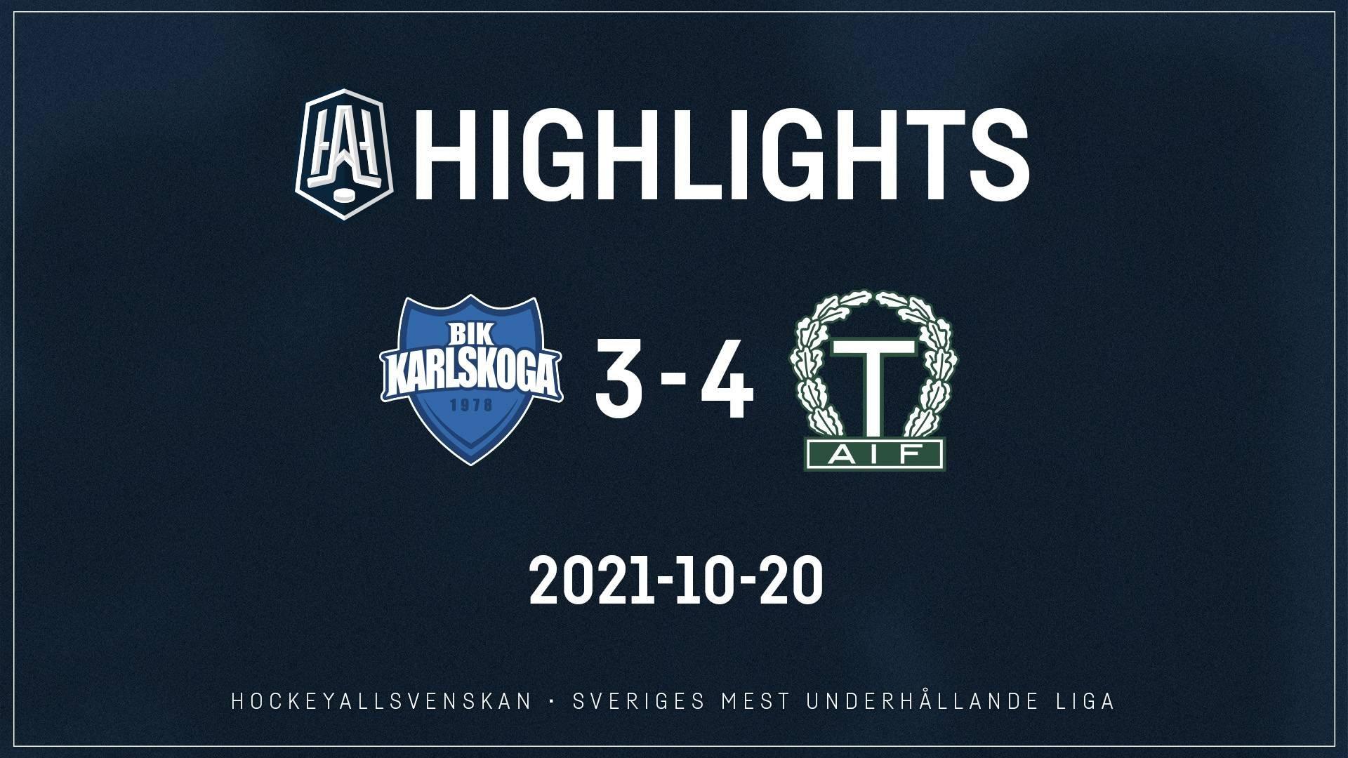 2021-10-20 Karlskoga - Tingsryd 3-4