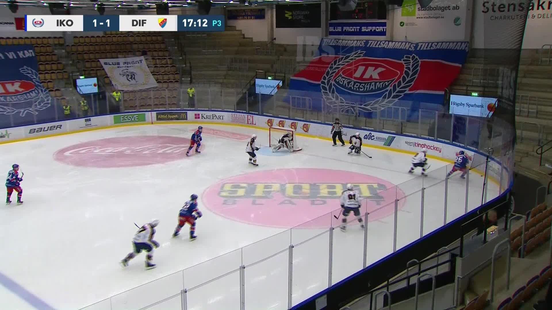 IK Oskarshamn - Djurgården Hockey 2-1