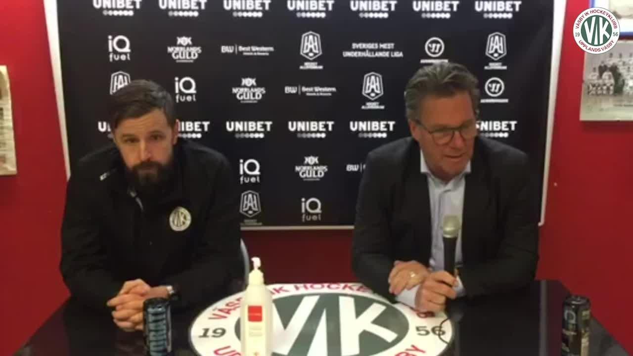 Presskonferens: Väsby - AIK