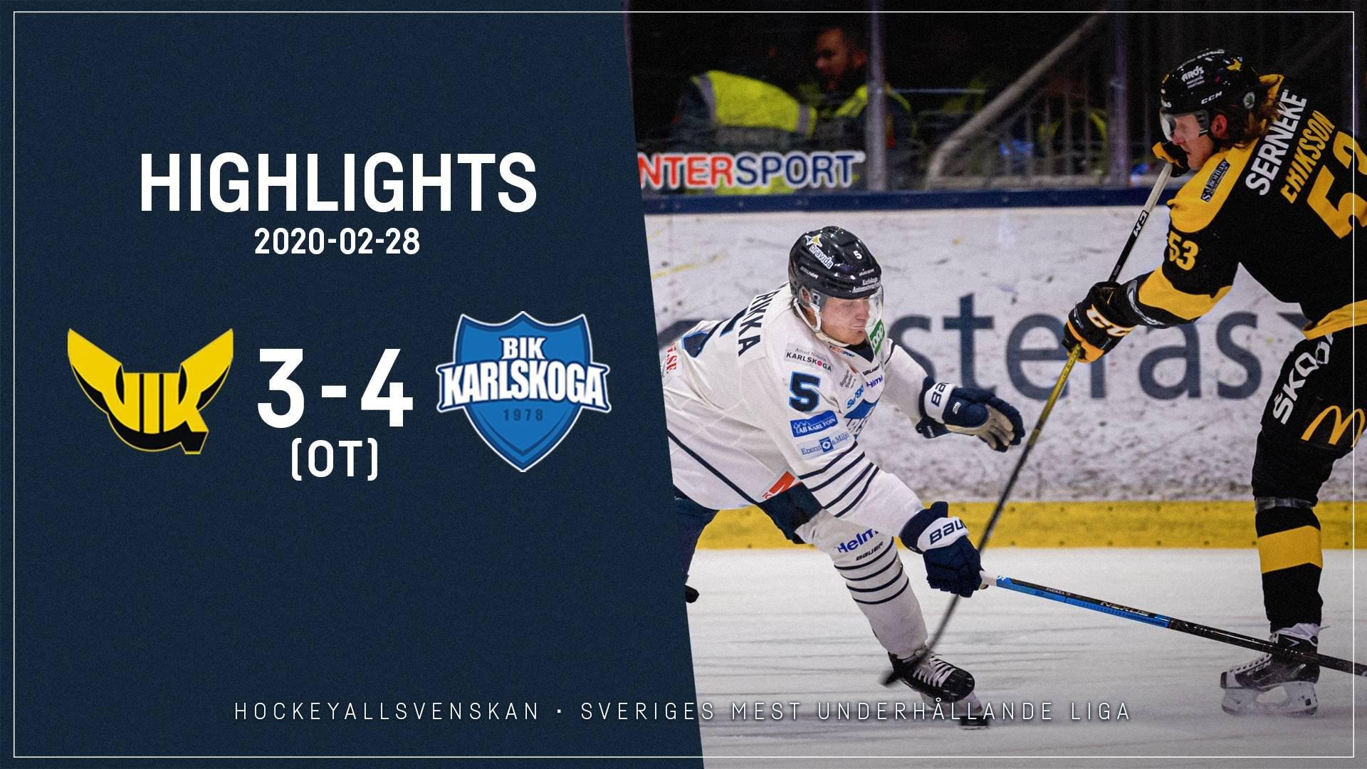2020-02-28 Västerås - Karlskoga 3-4 (OT)