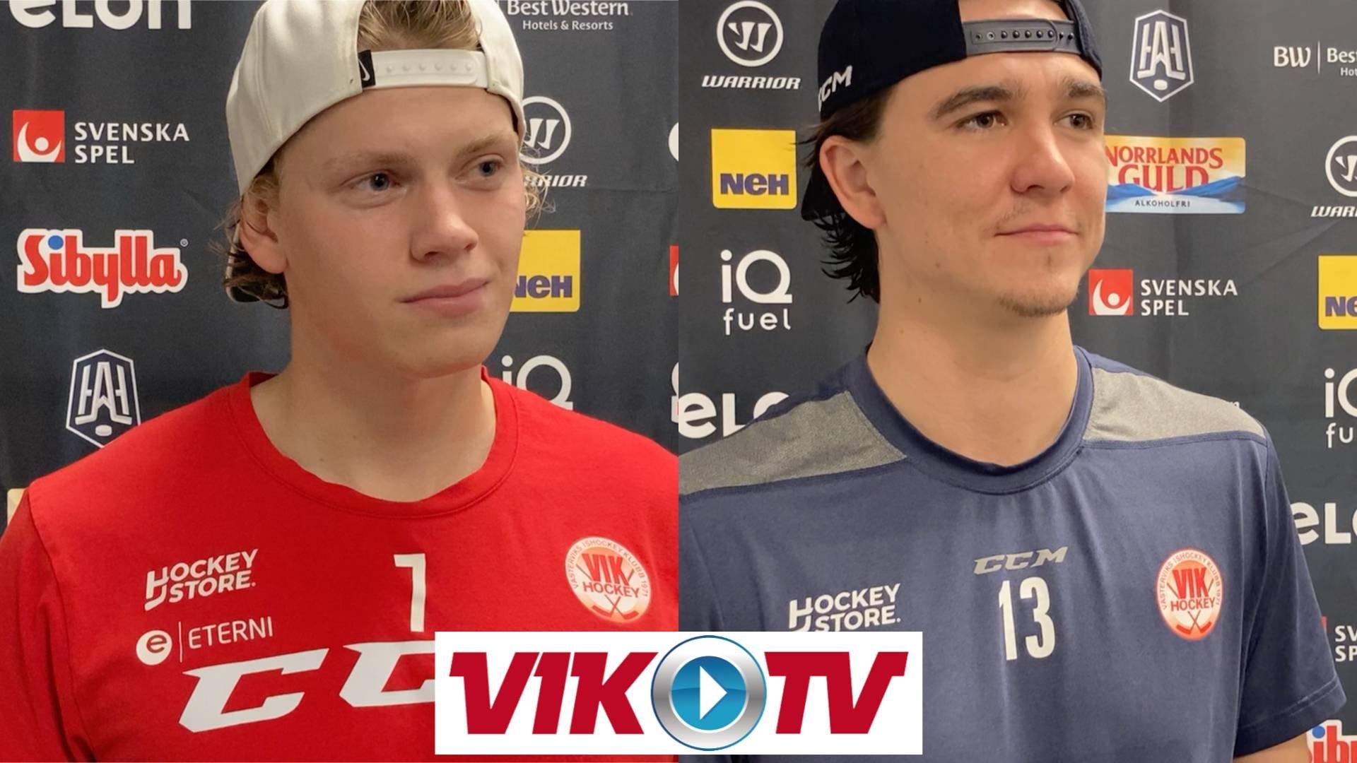 Intervju med Åhström och Supinski efter premiärsegern mot MoDo.