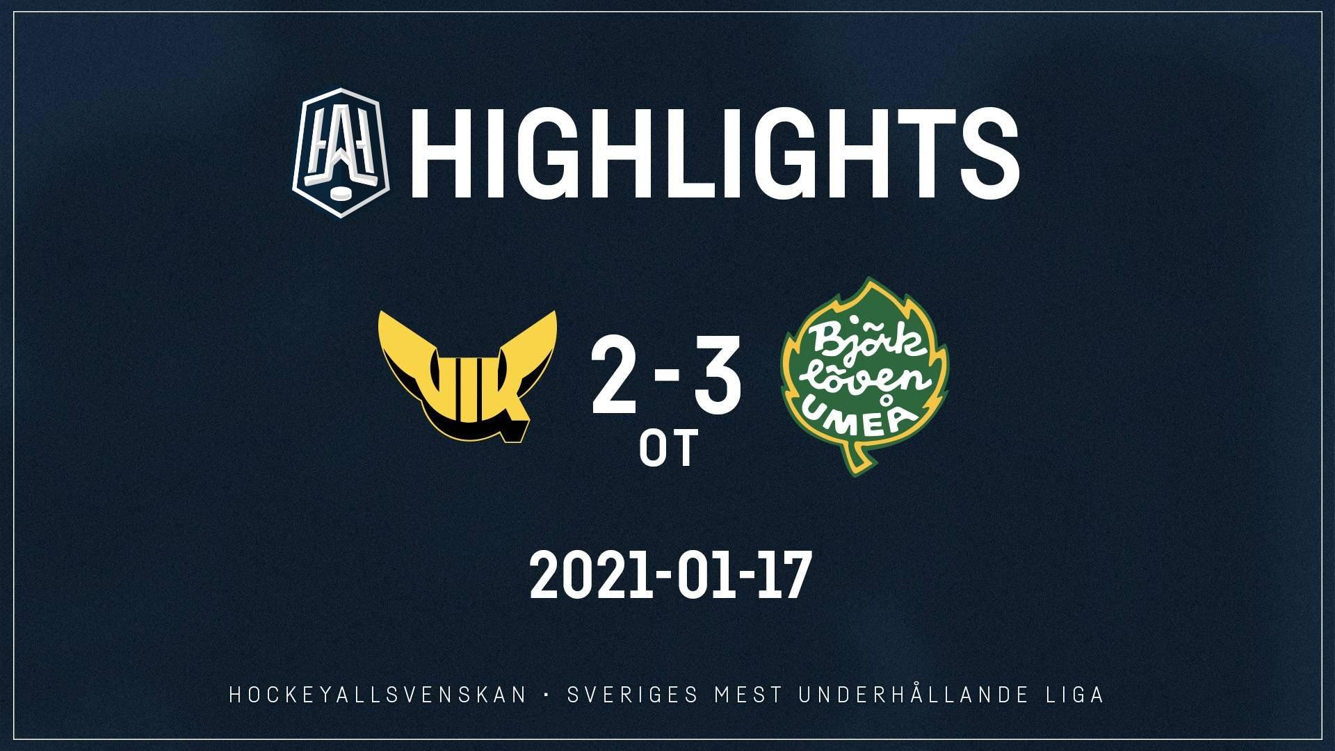 2021-01-17 Västerås - Björklöven 2-3 (OT)