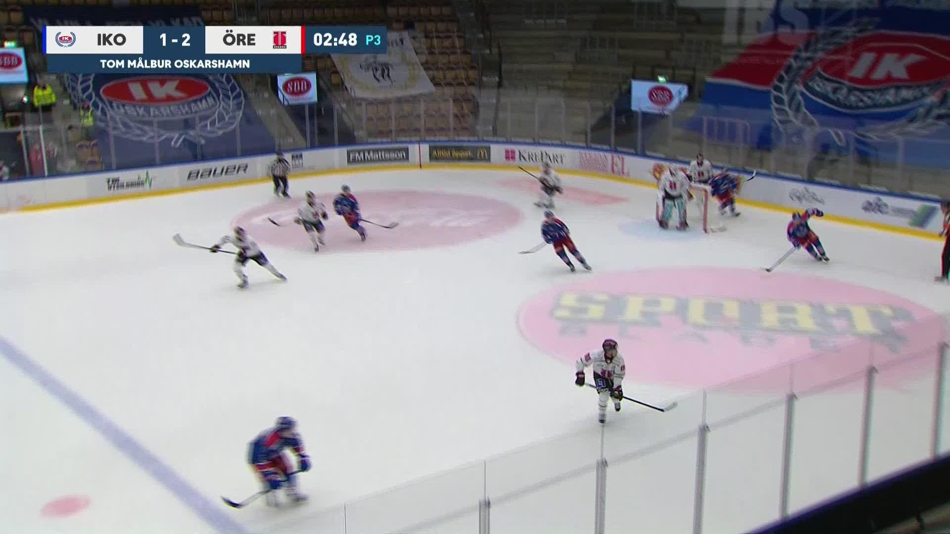 IK Oskarshamn - Örebro Hockey 1-3