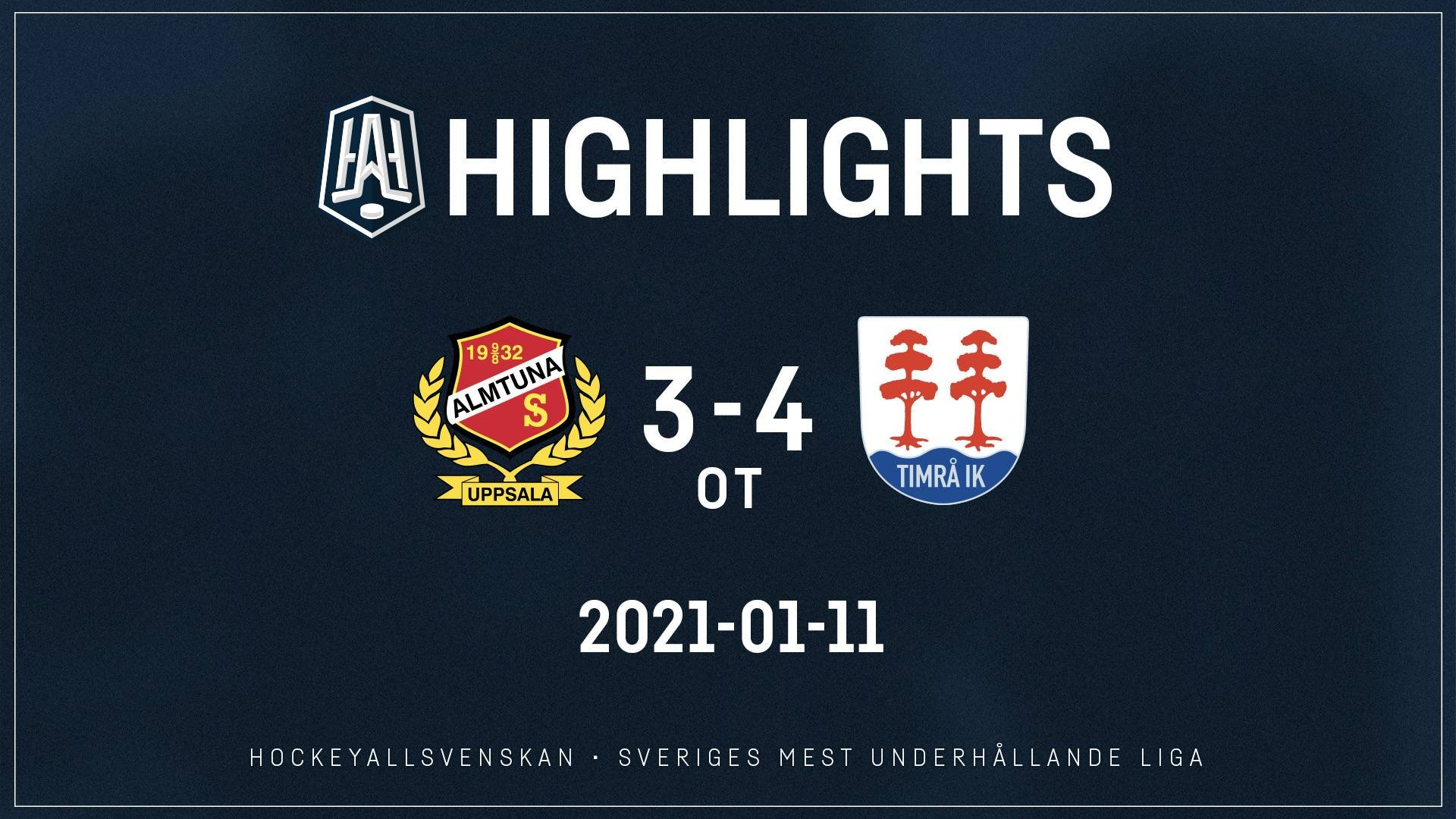 2021-01-11 Almtuna - Timrå 3-4 (OT)