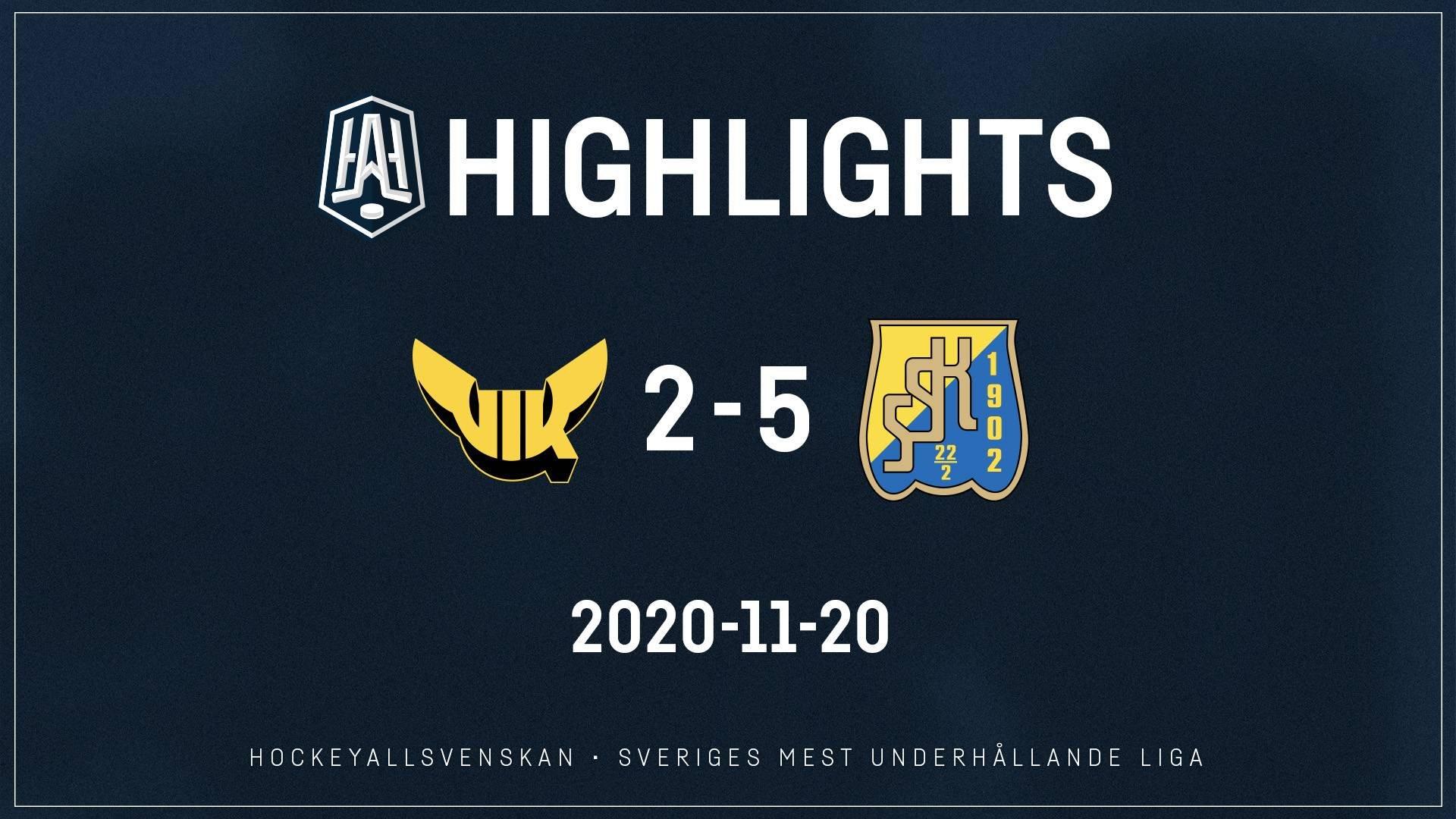 2020-11-20 Västerås - Södertälje 2-5