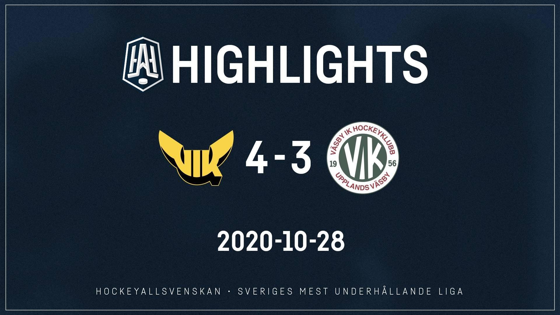 2020-10-28 Västerås - Väsby 4-3