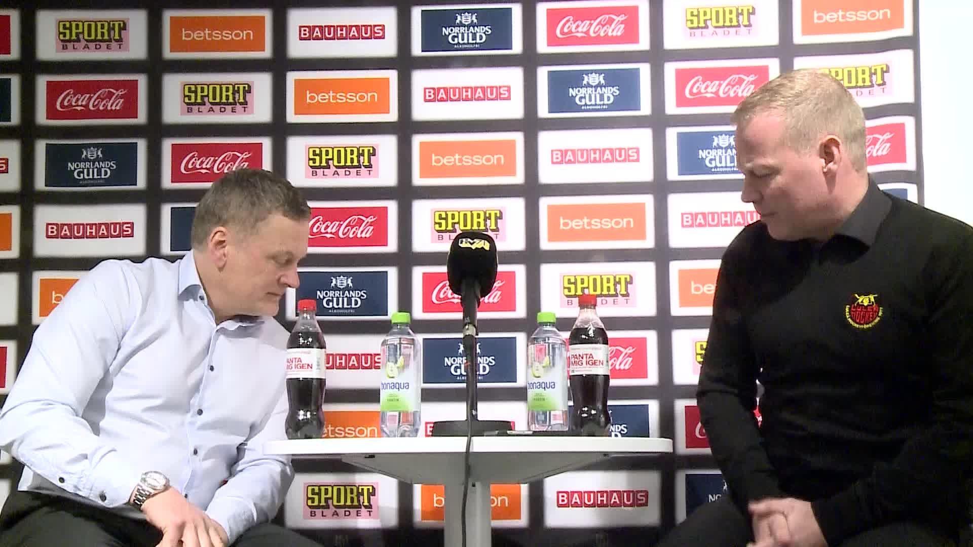 Presskonferens HV71–Luleå Hockey