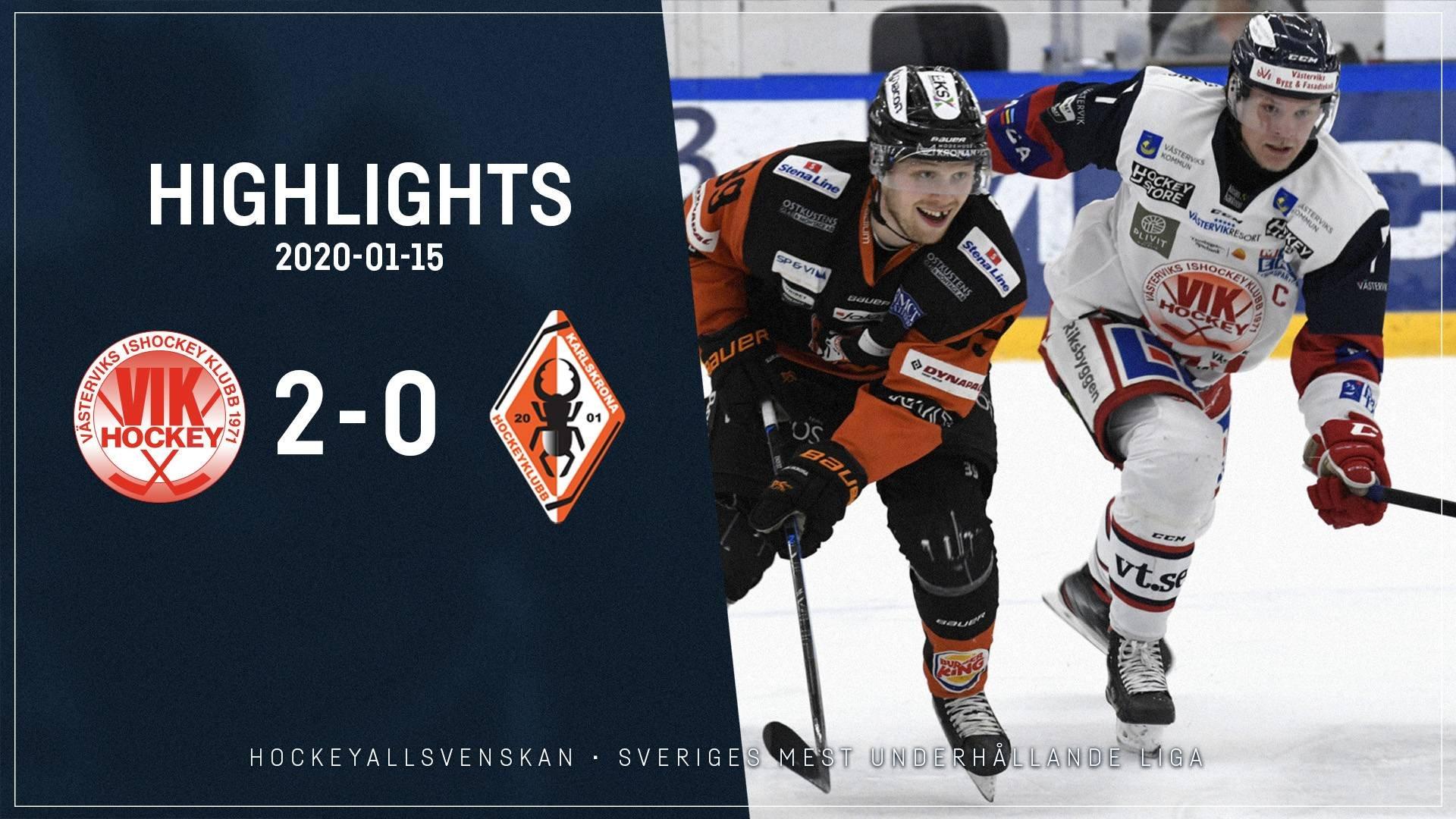 2020-01-15 Västervik - Karlskrona 2-0
