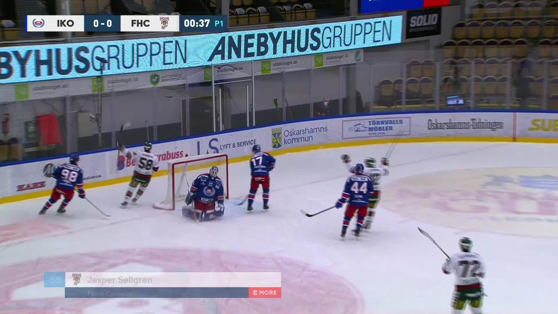 IK Oskarshamn - Frölunda HC 0-1