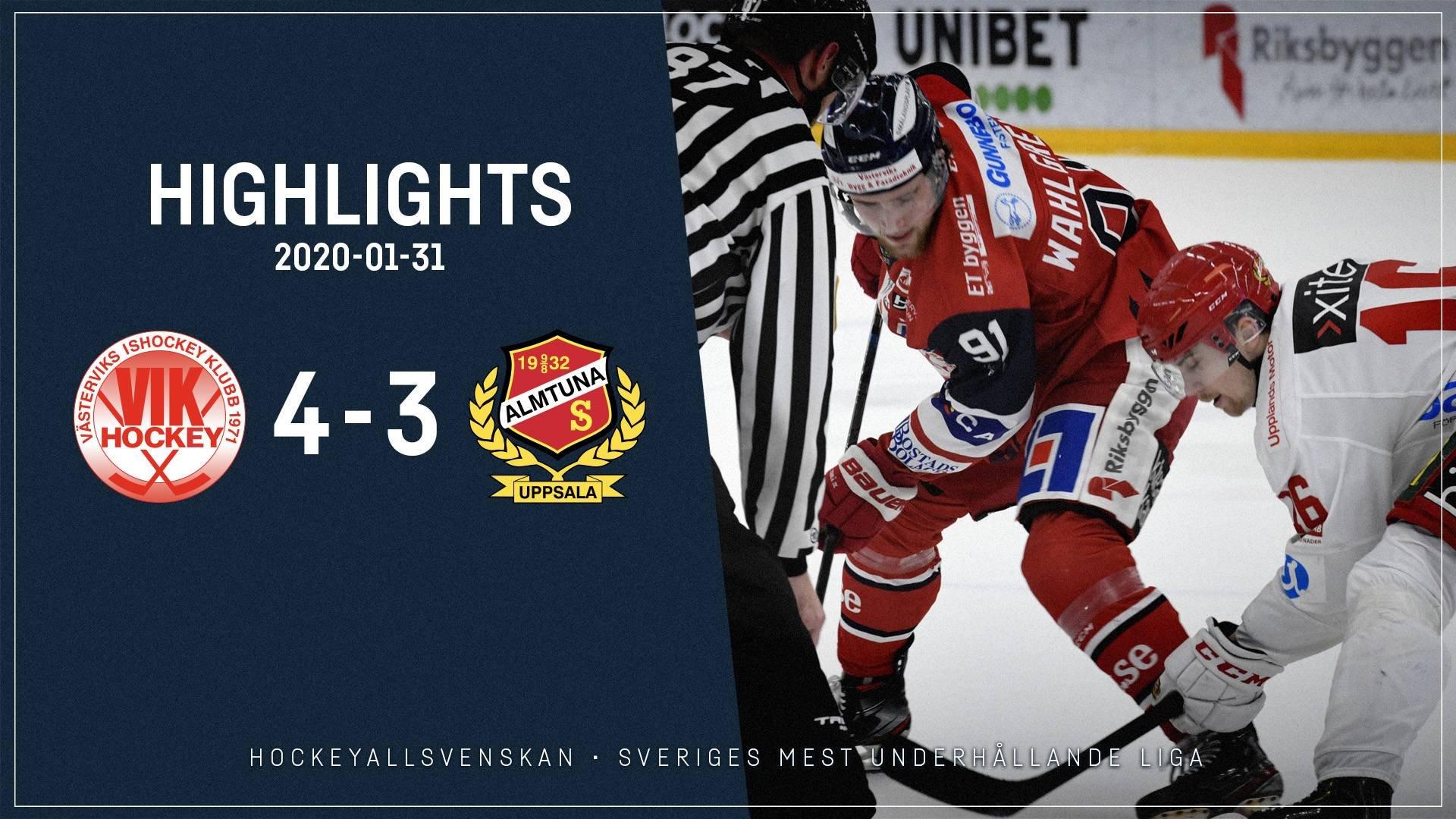 2020-01-31 Västervik - Almtuna 4-3