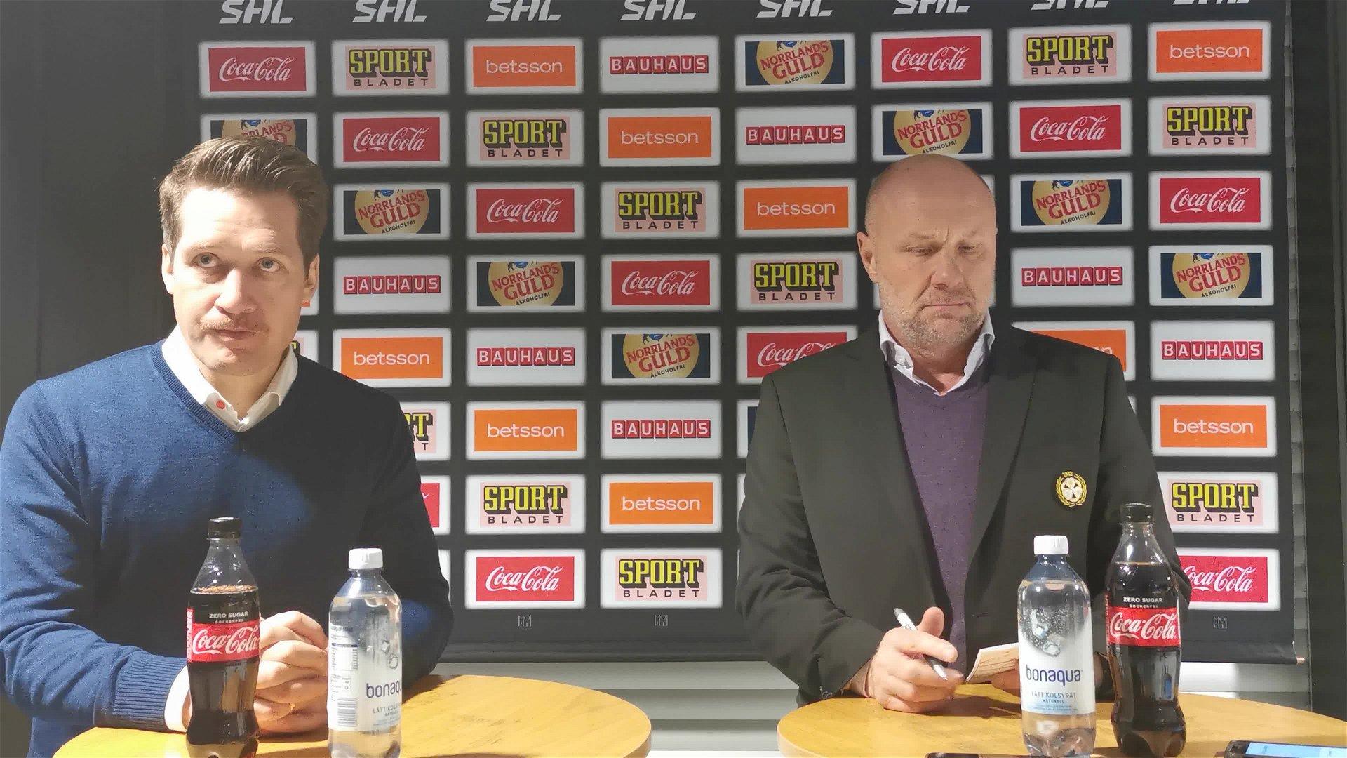 Presskonferens BIF - VLH