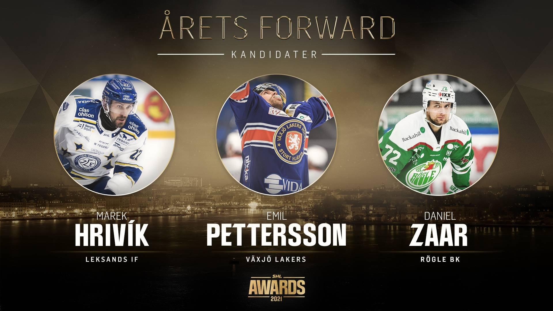 SHL Awards - finalister Årets forward