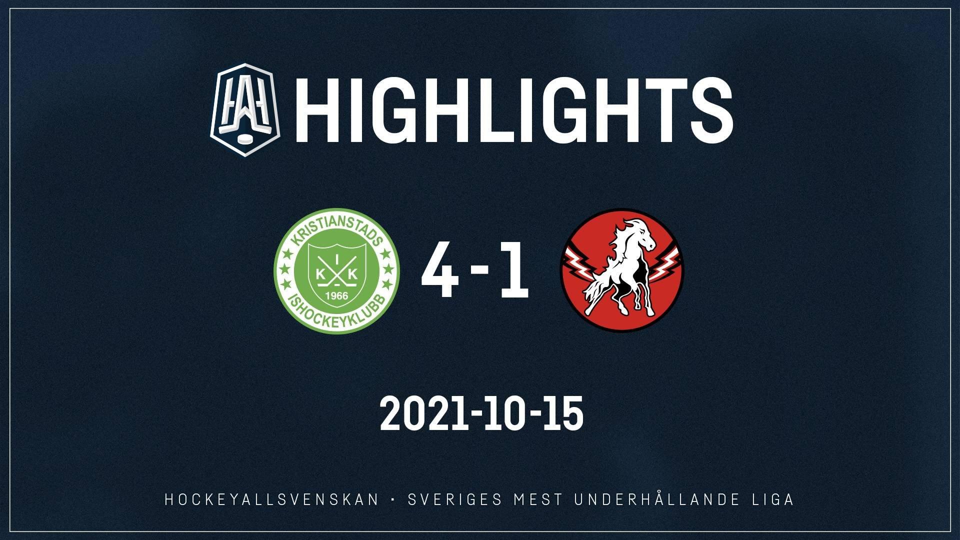 2021-10-15 Kristianstad - Vita Hästen 4-2