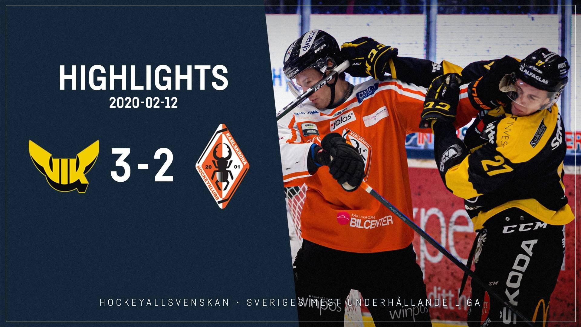 2020-02-12 Västerås - Karlskrona 3-2