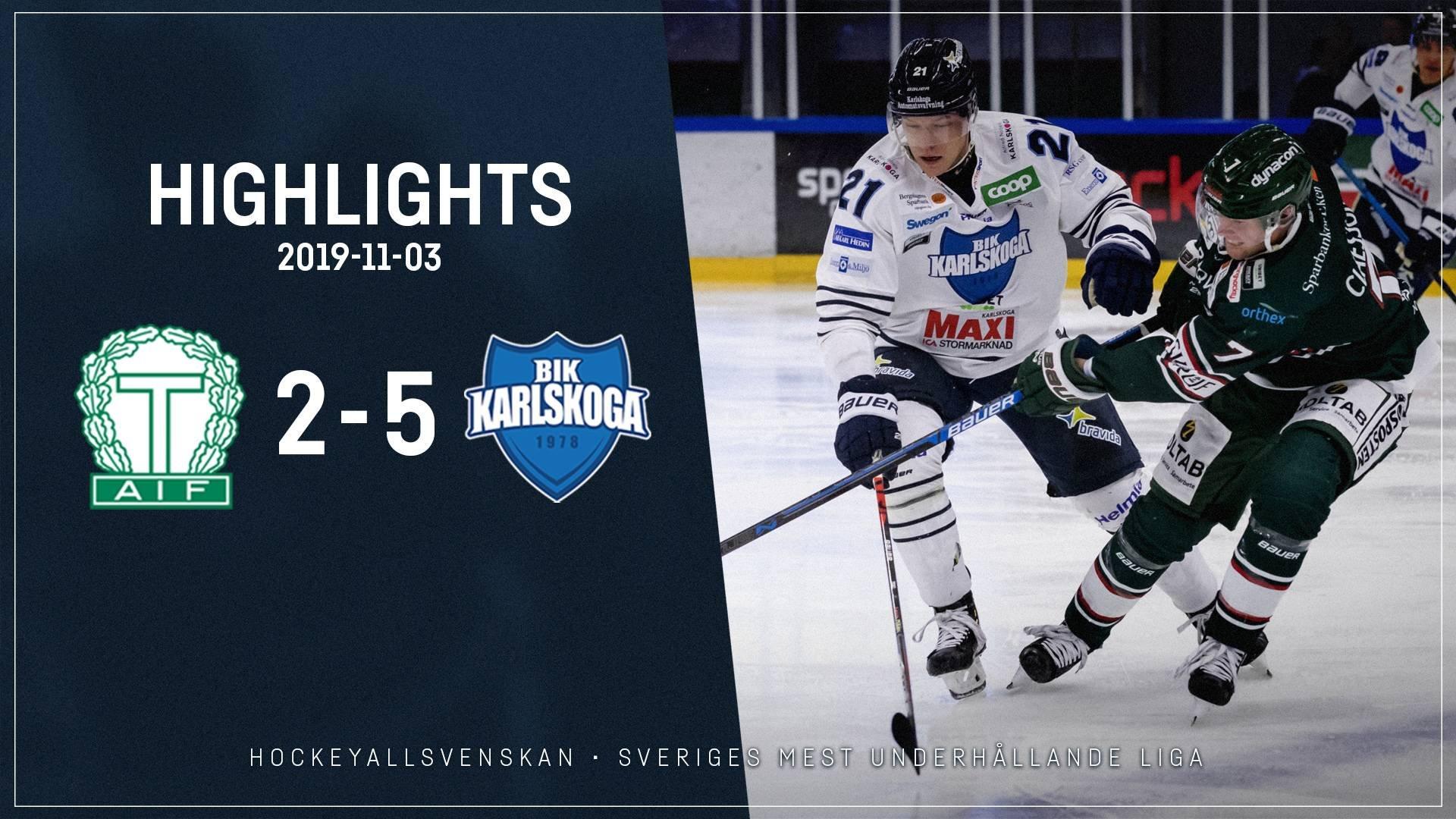 2019-11-03 Tingsryd - Karlskoga 2-5