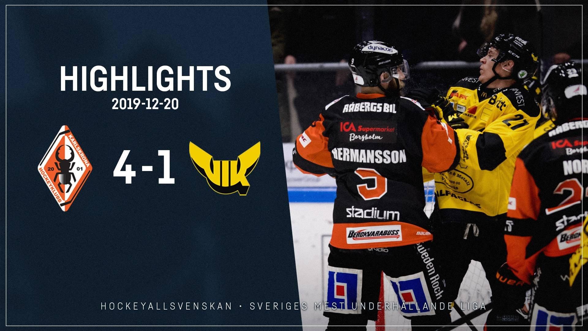 2019-12-20 Karlskrona - Västerås 4-1
