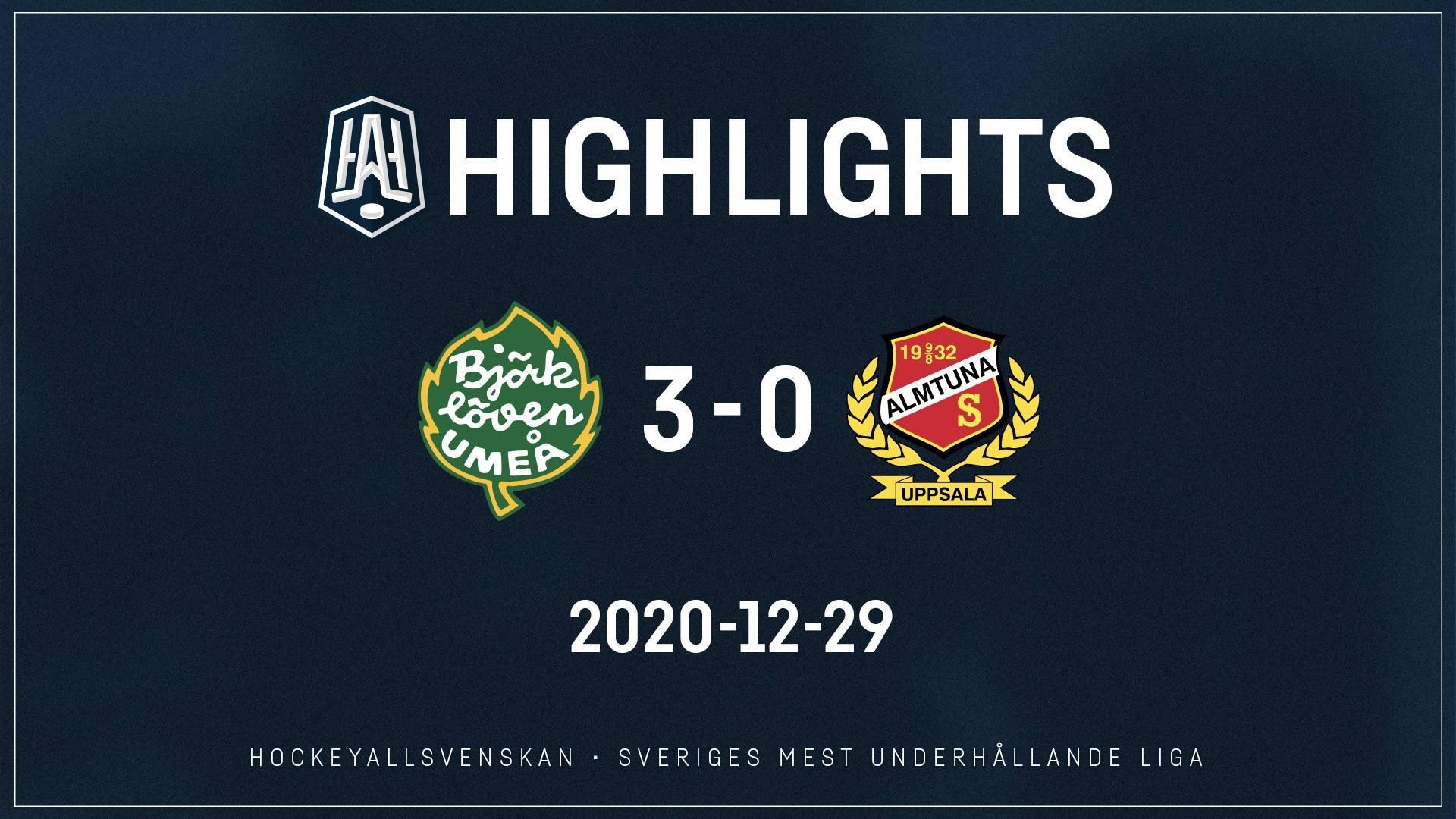 2020-12-29 Björklöven - Almtuna 3-0