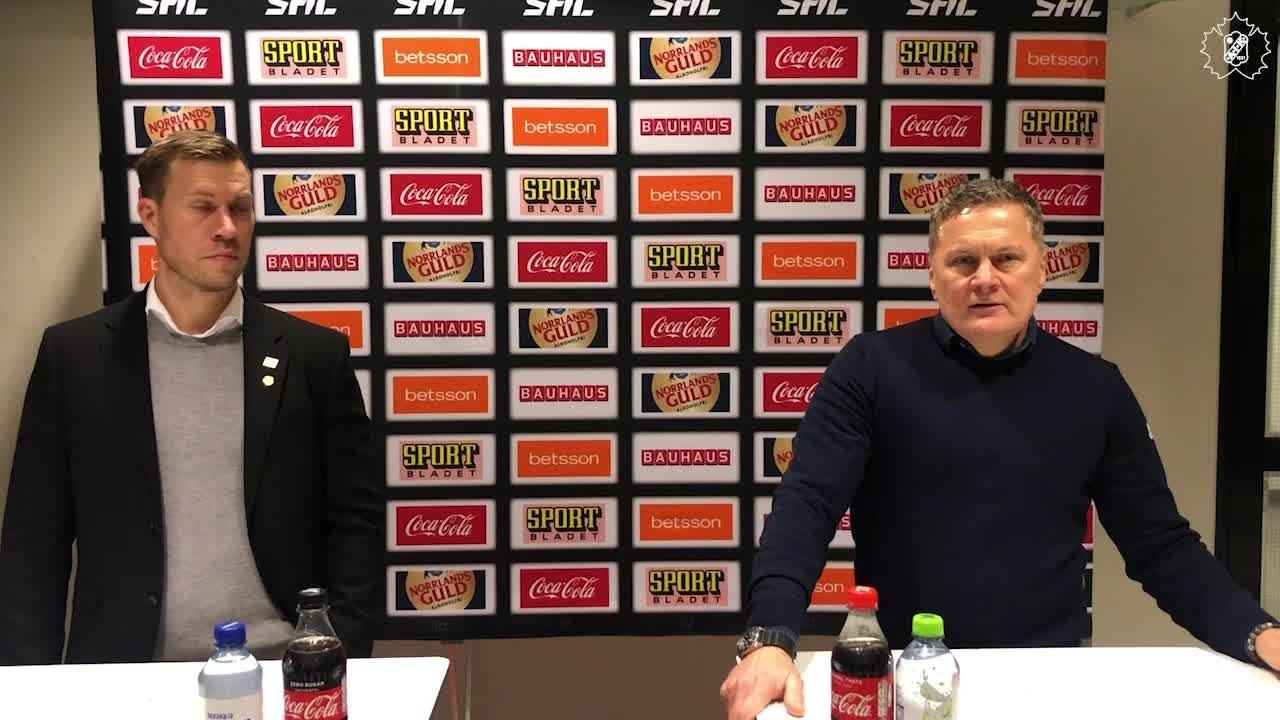 Presskonferens efter SKE - HV71