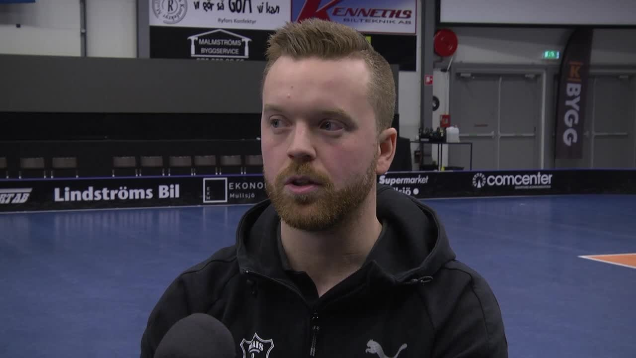 Huvudtränare Johan Nygårdh efter segern - Kvartsfinal 1