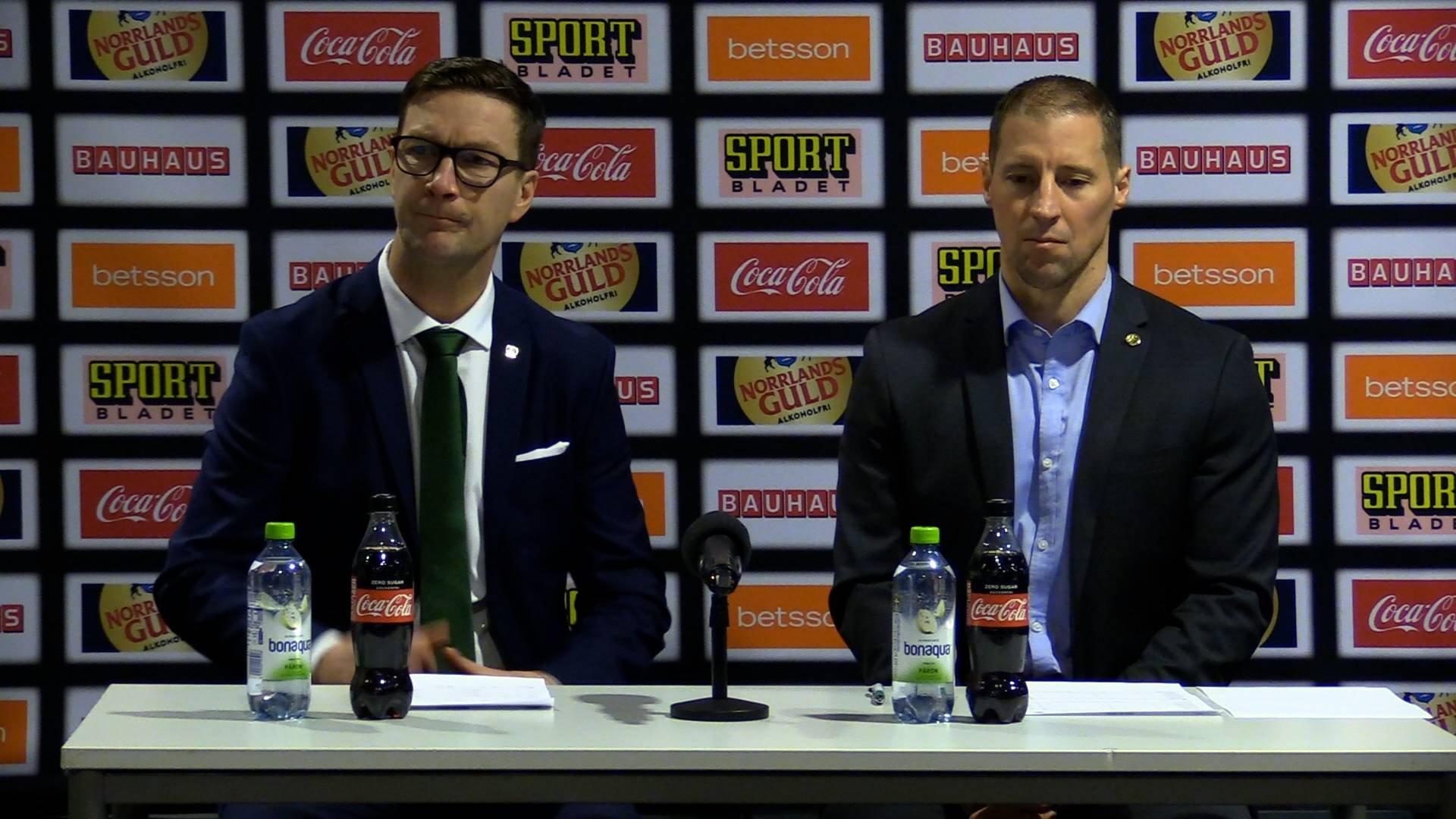 Presskonferens efter Färjestad Rögle