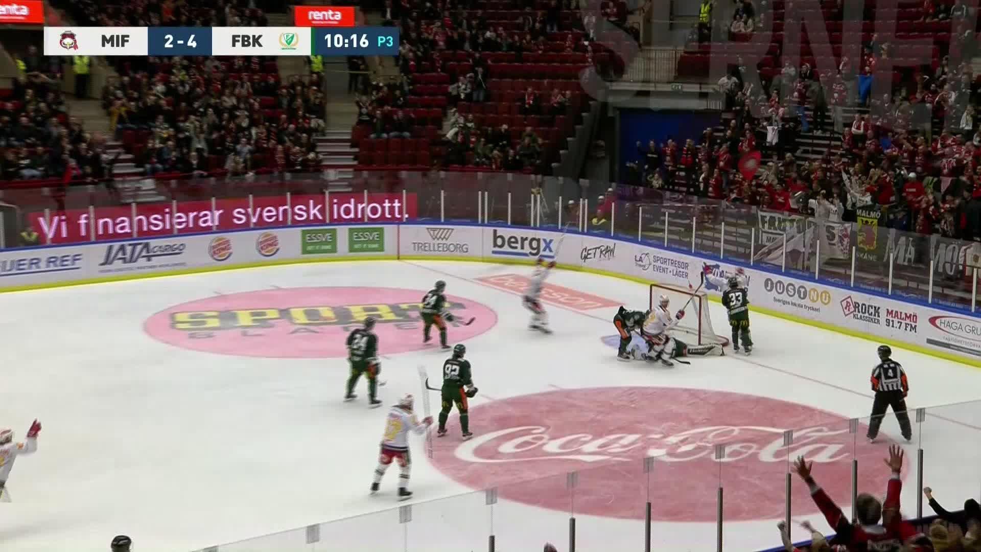 Malmö Redhawks - Färjestad BK 3-4