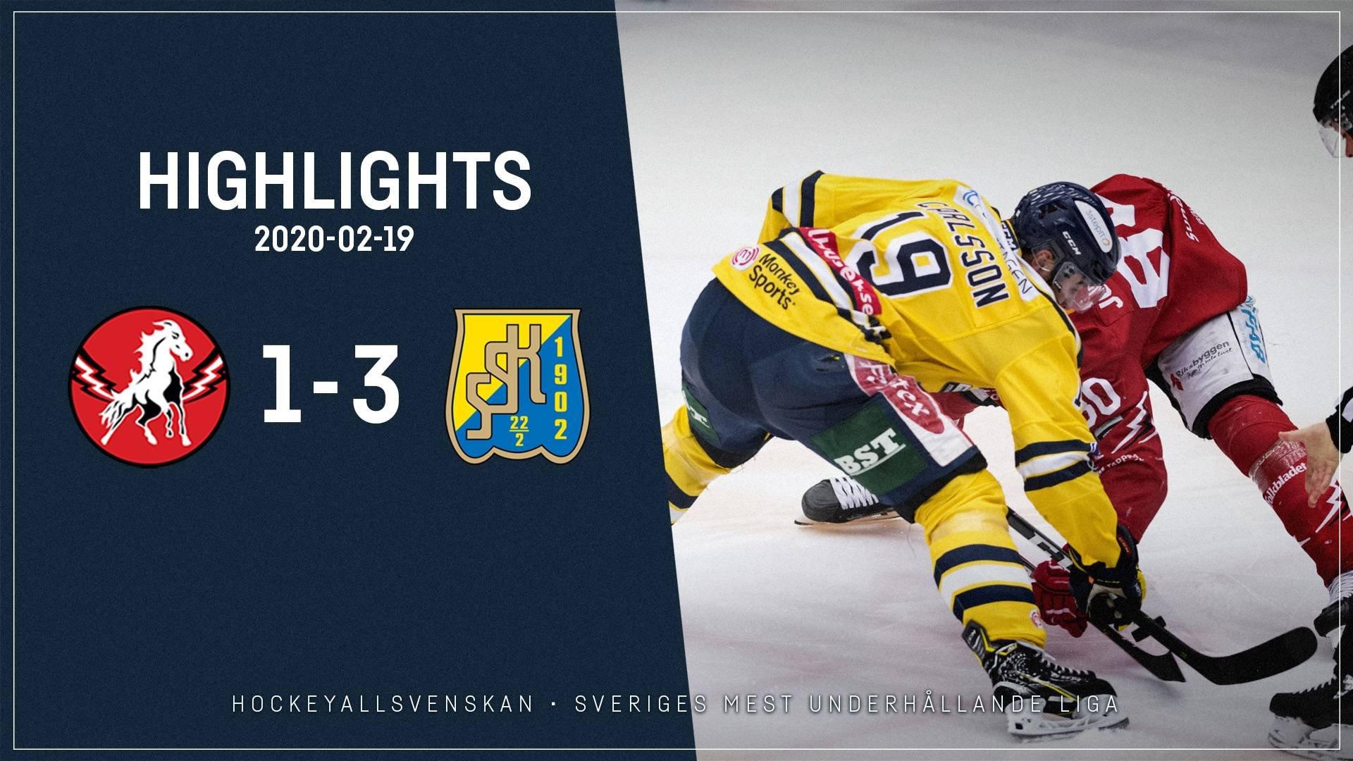 2020-02-19 Vita Hästen - Södertälje 1-3