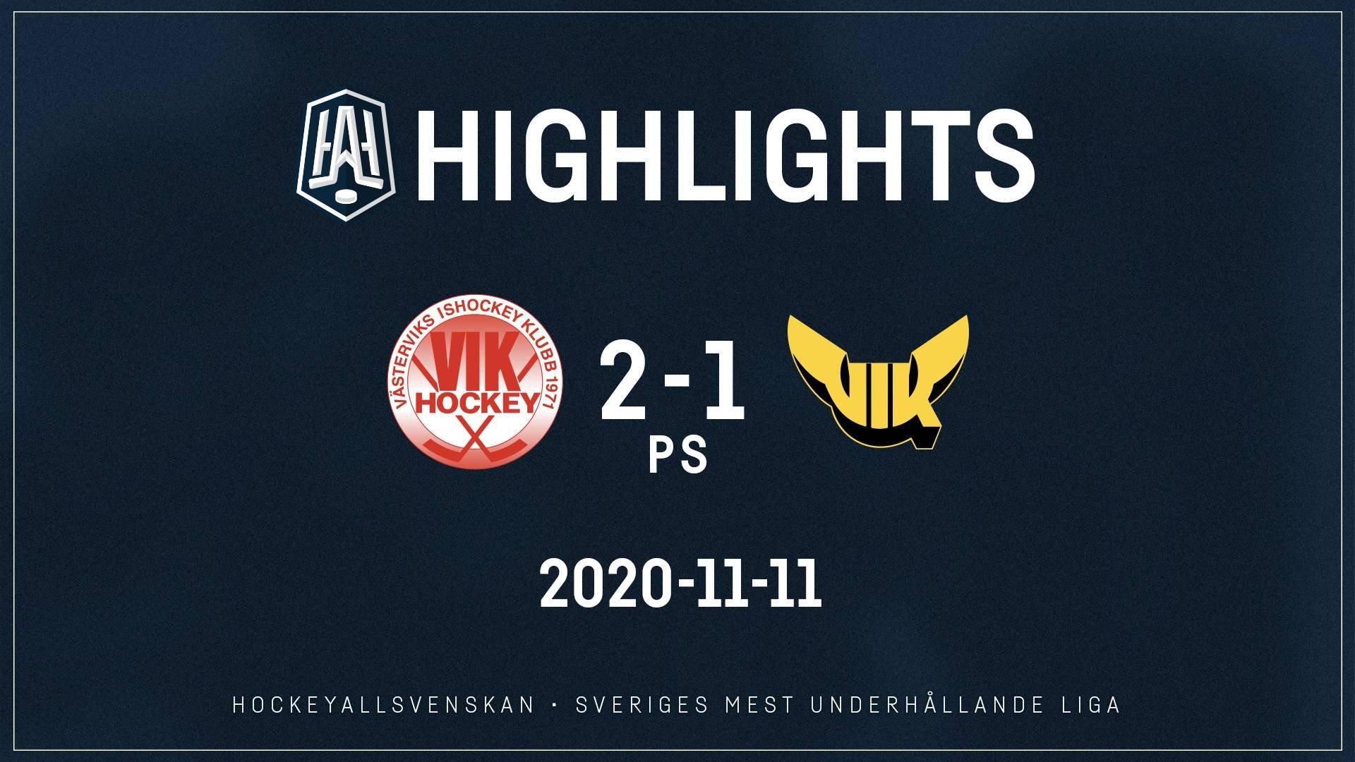 2020-11-11 Västervik - Västerås 2-1 (PS)