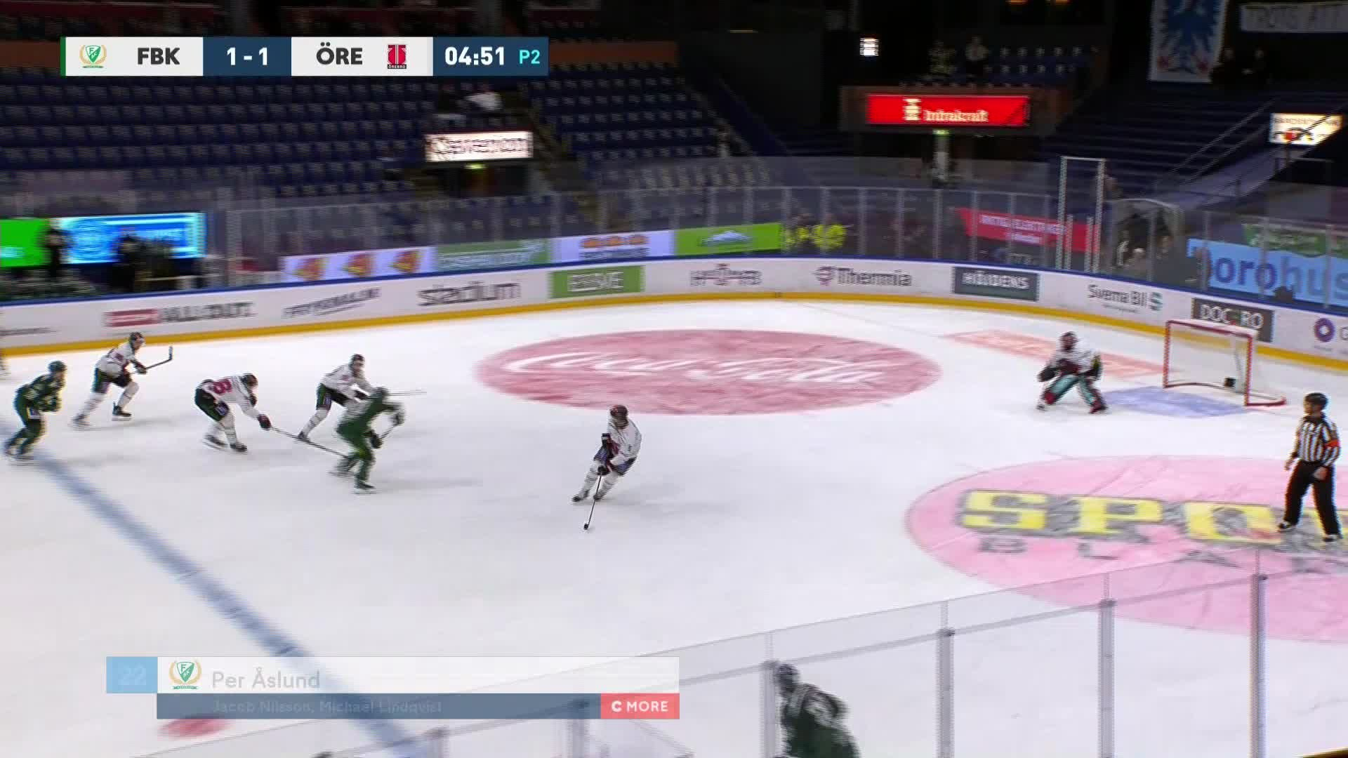 Färjestad BK - Örebro Hockey 2-1