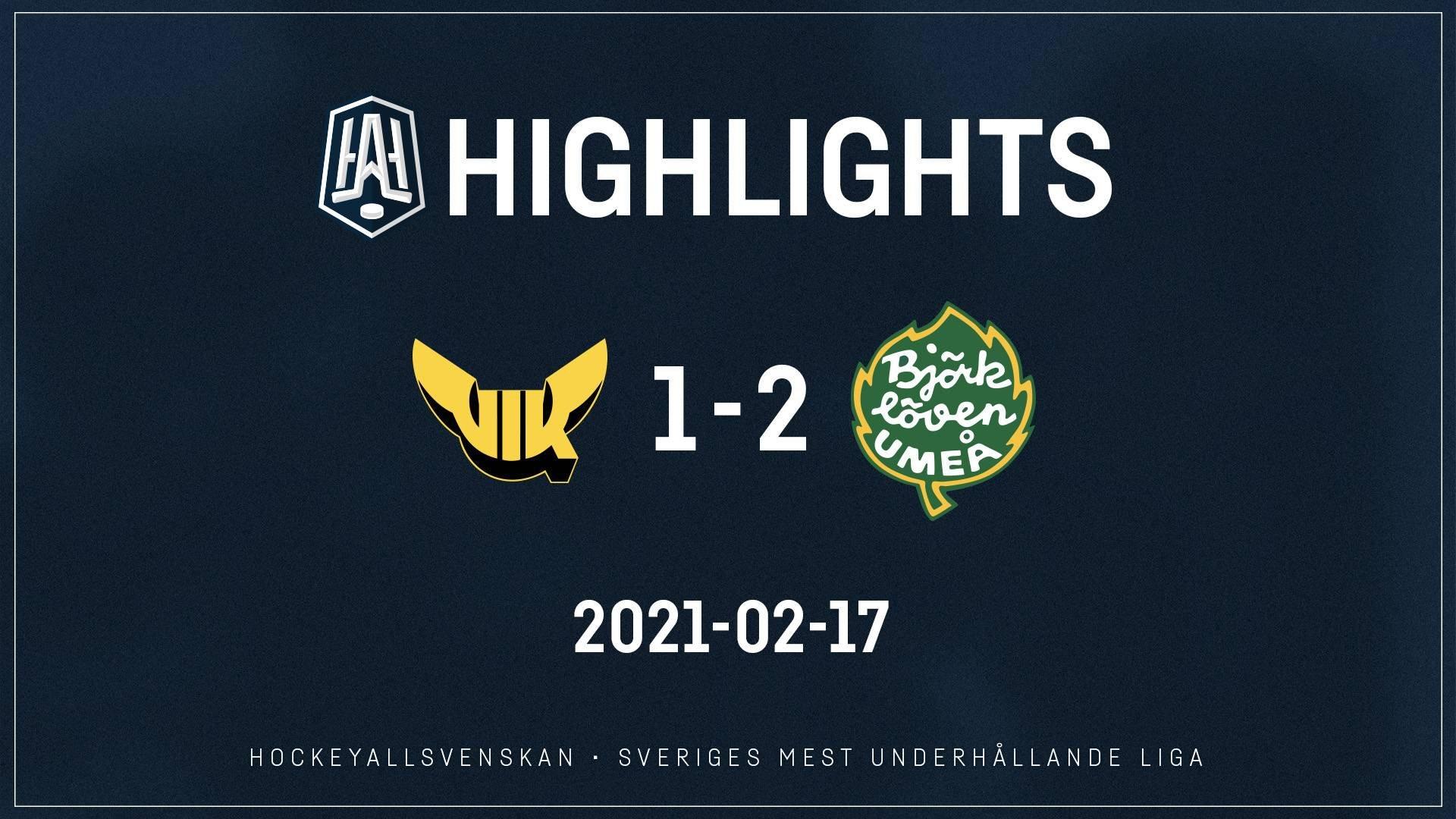 2021-02-17 Västerås - Björklöven 1-2