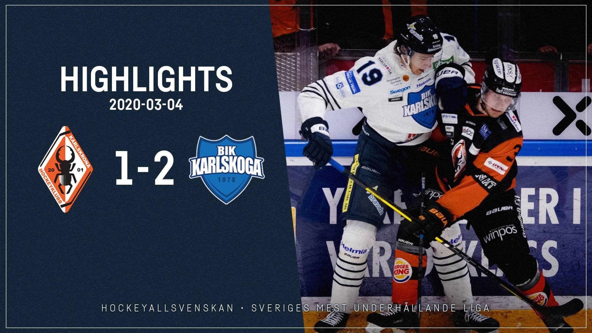 2020-03-04 Karlskrona - Karlskoga 1-2