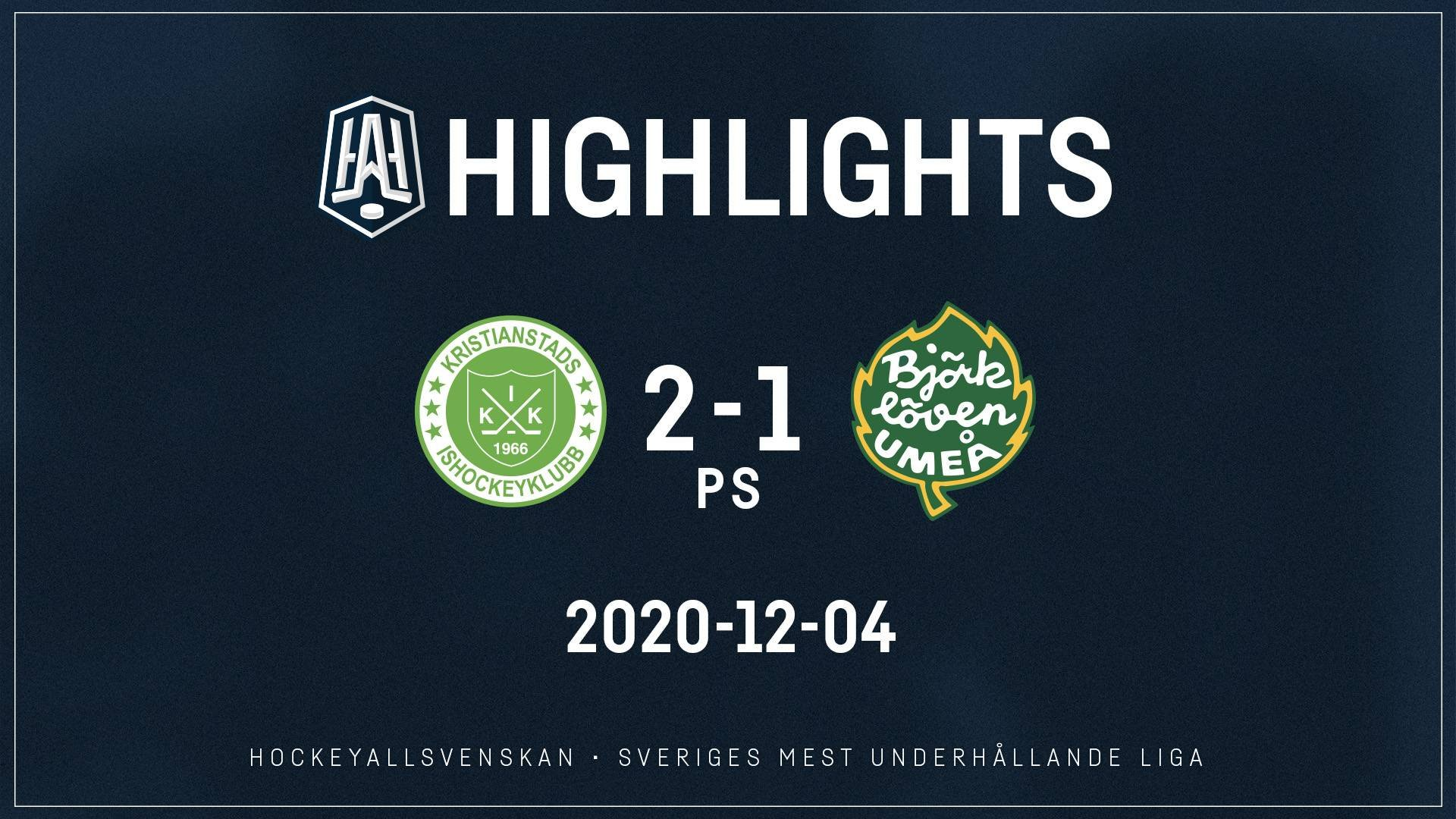 2020-12-04 Kristianstad - Björklöven 2-1 (PS)