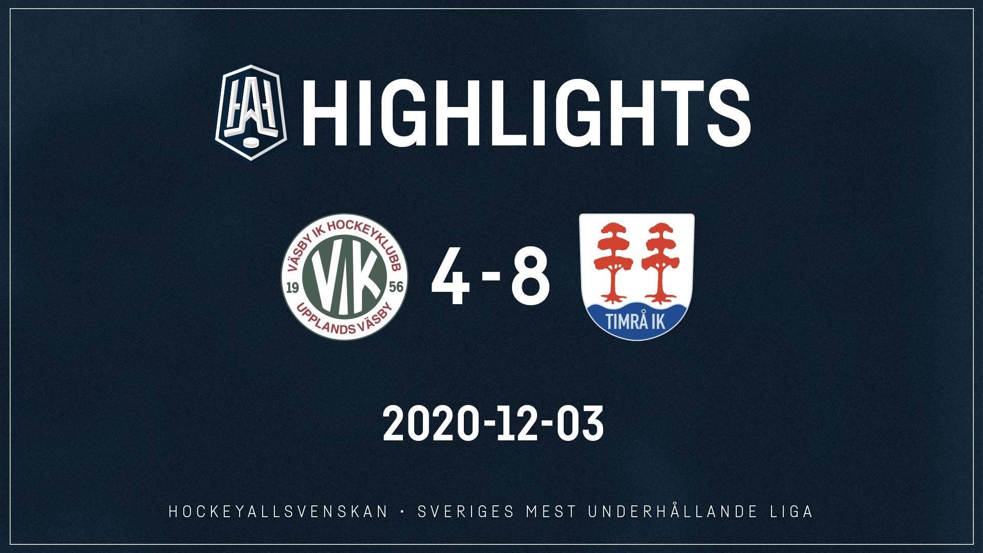 2020-12-03 Väsby - Timrå 4-8