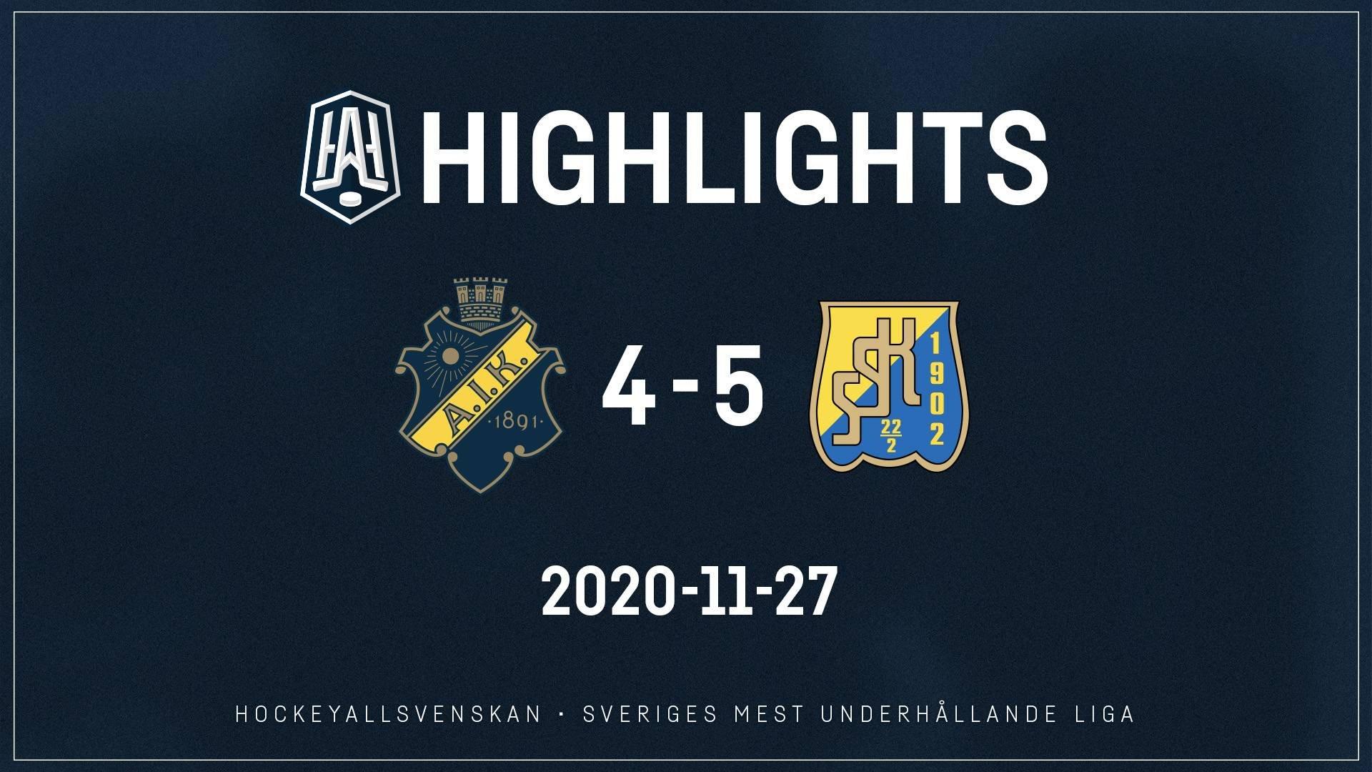 2020-11-27 AIK - Södertälje 4-5