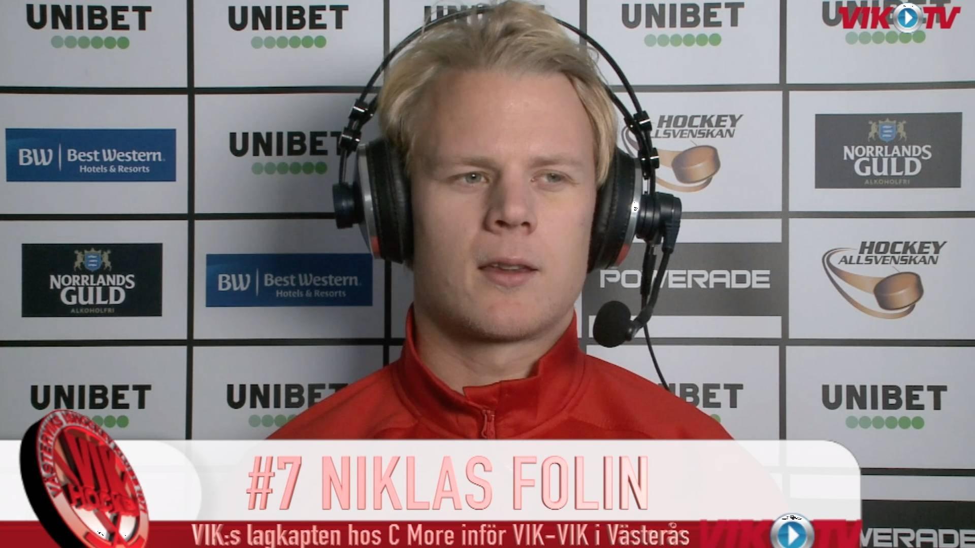 VIK-TV: Niklas Folin hos C More före nedsläpp Västerås-Västervik