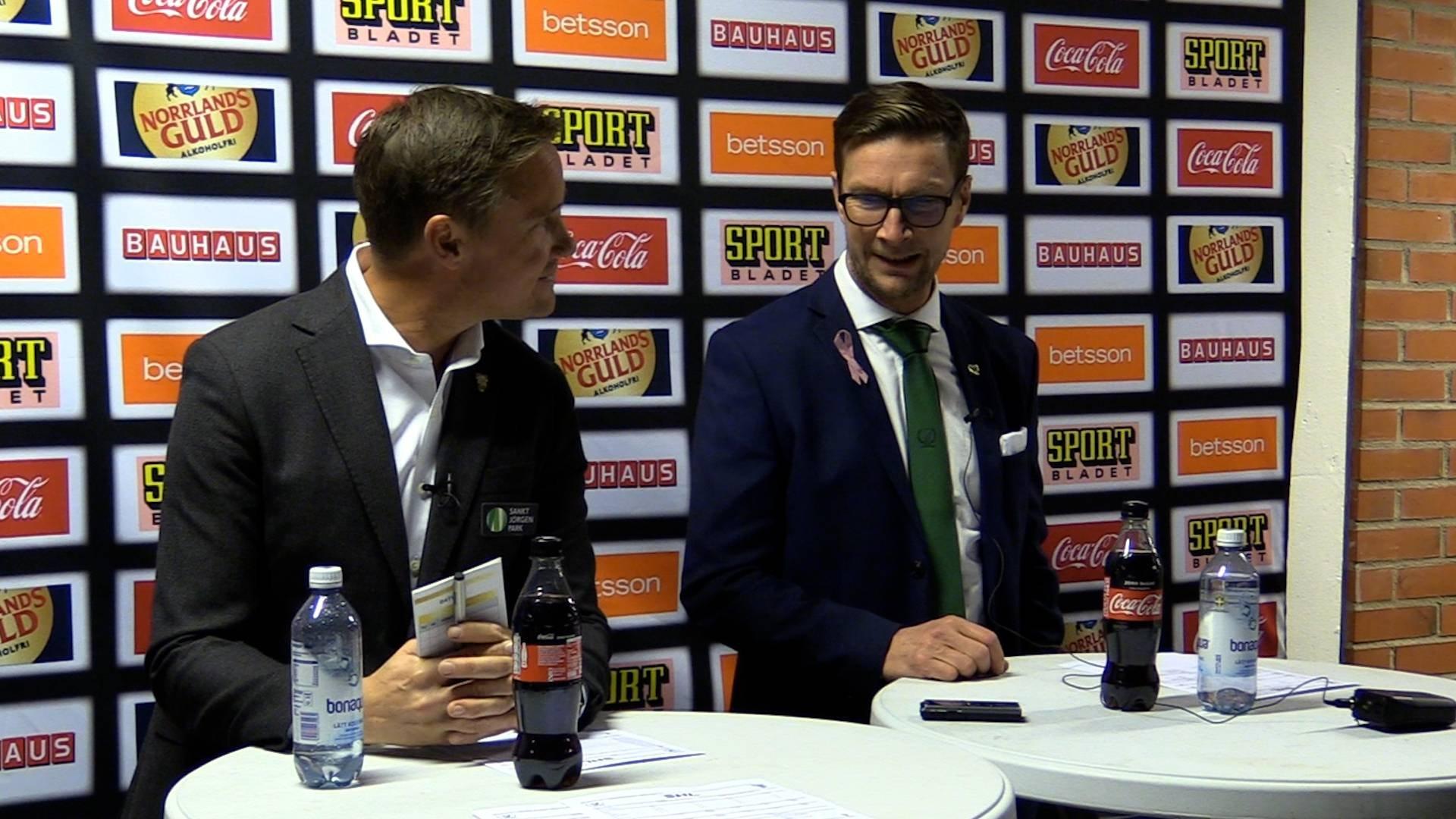 Presskonferens efter Färjestad BK-Frölunda HC