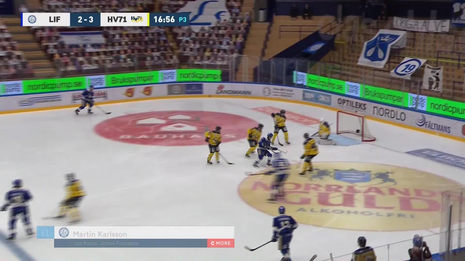Leksands IF - HV71 3-3