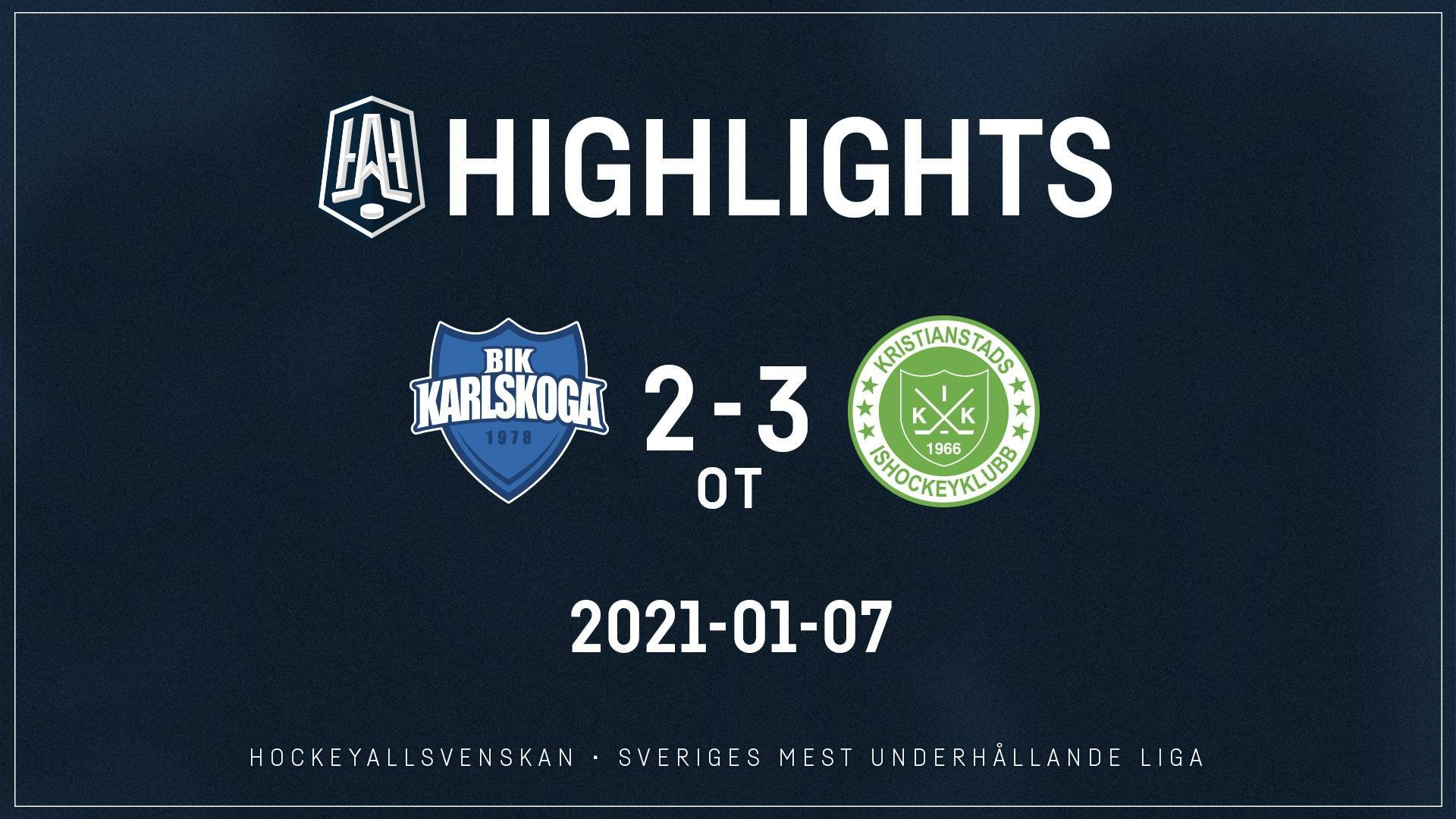 2021-01-07 Karlskoga - Kristianstad 2-3 (OT)