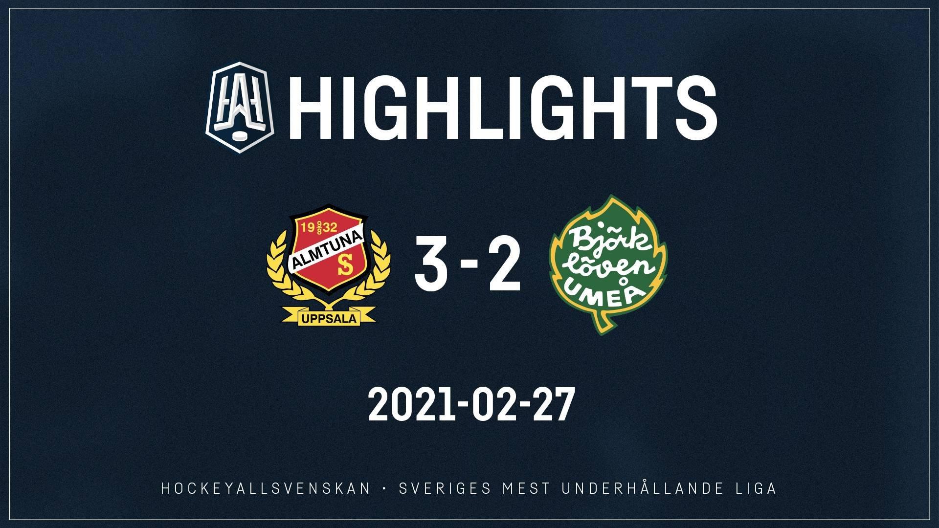2021-02-27 Almtuna - Björklöven 3-2