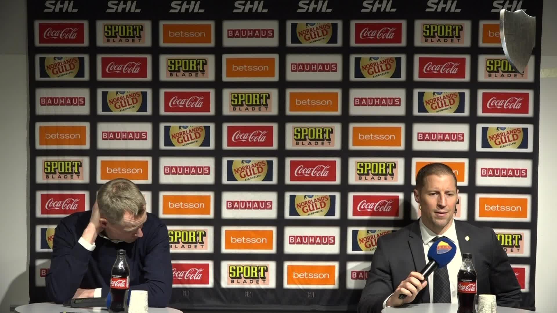 Presskonferens efter Djurgården Rögle 3-5