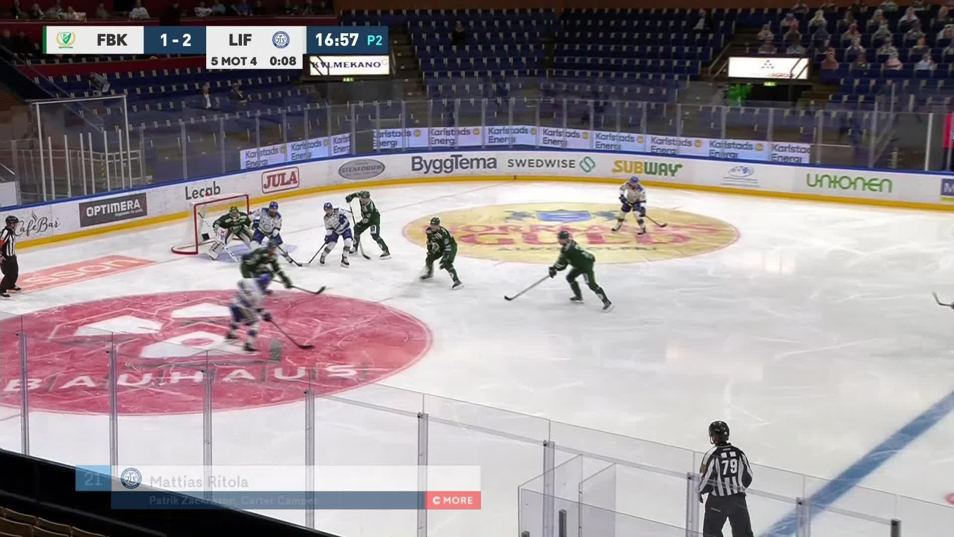 Färjestad BK - Leksands IF 1-3