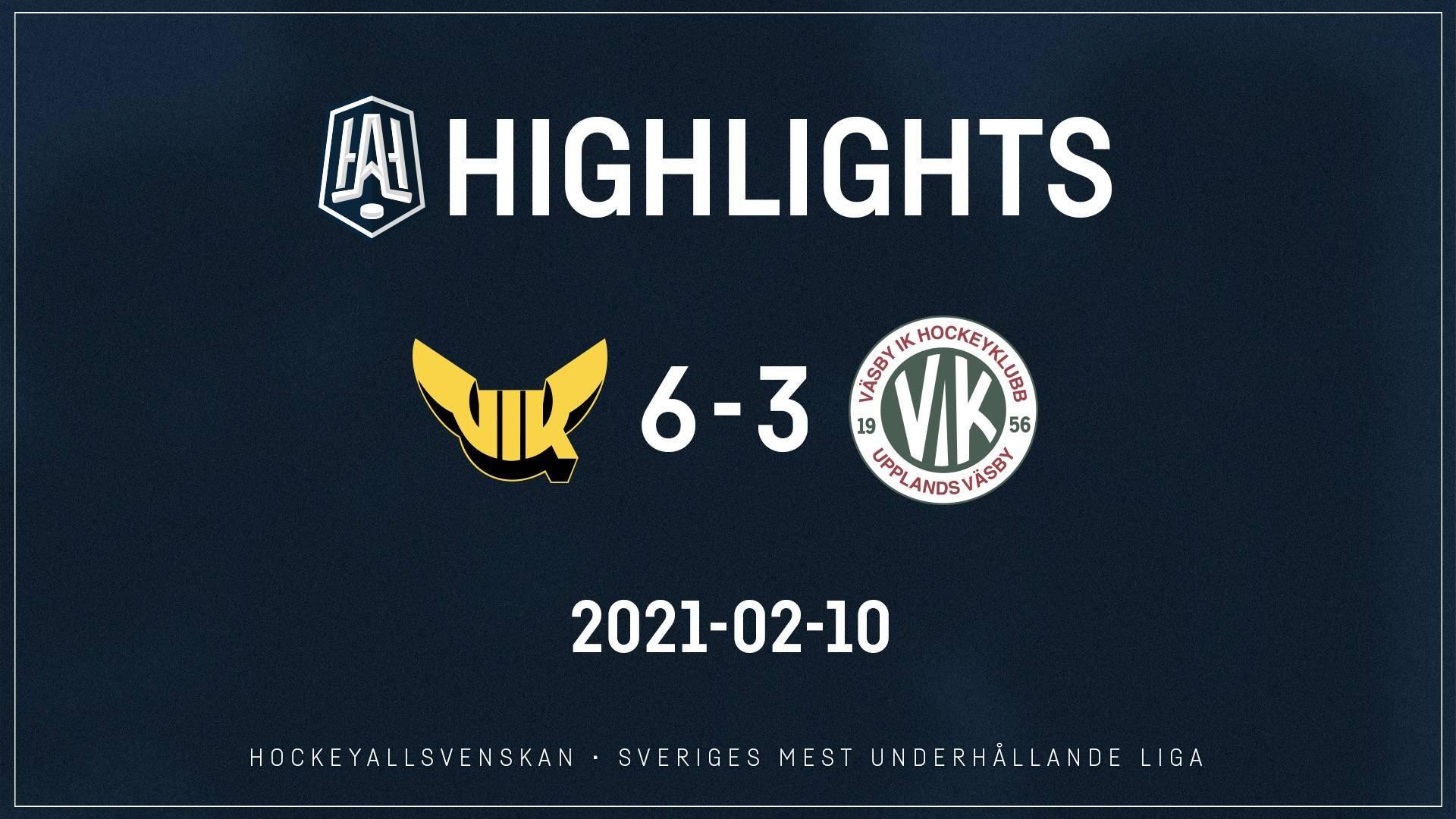 2021-02-10 Västerås - Väsby 6-3