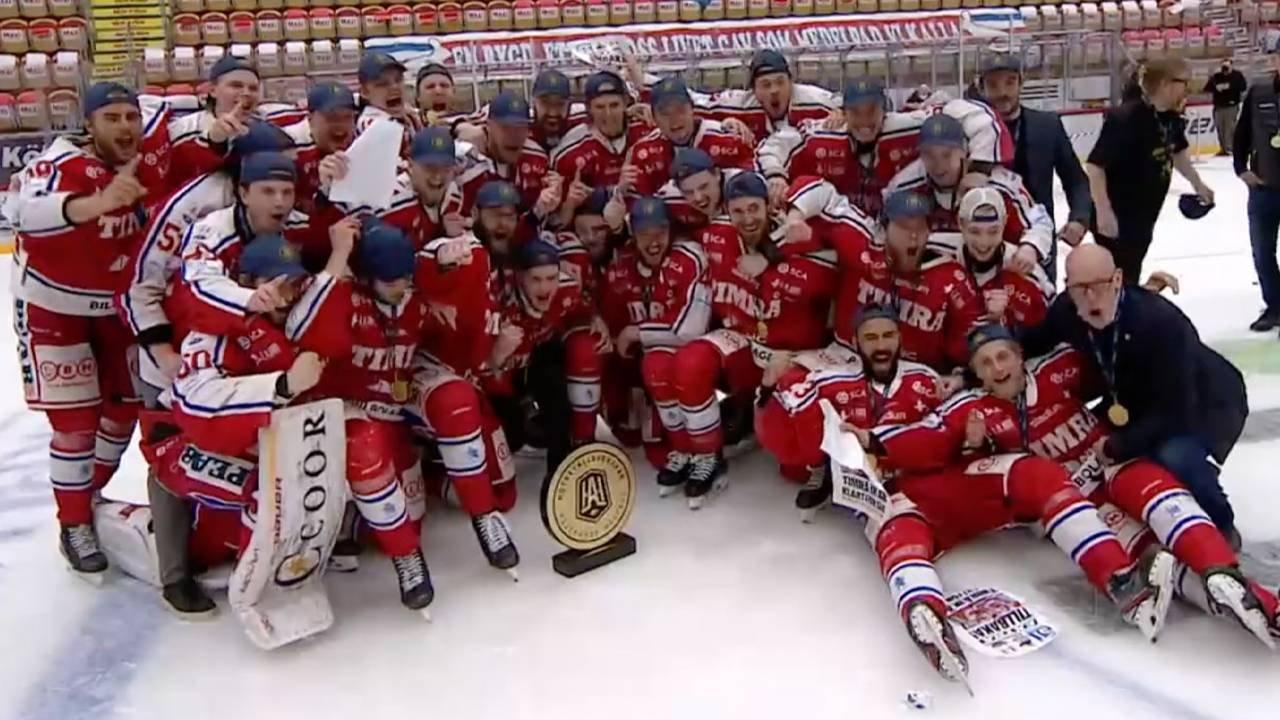 TV: Timrå-firandet efter finalsegern