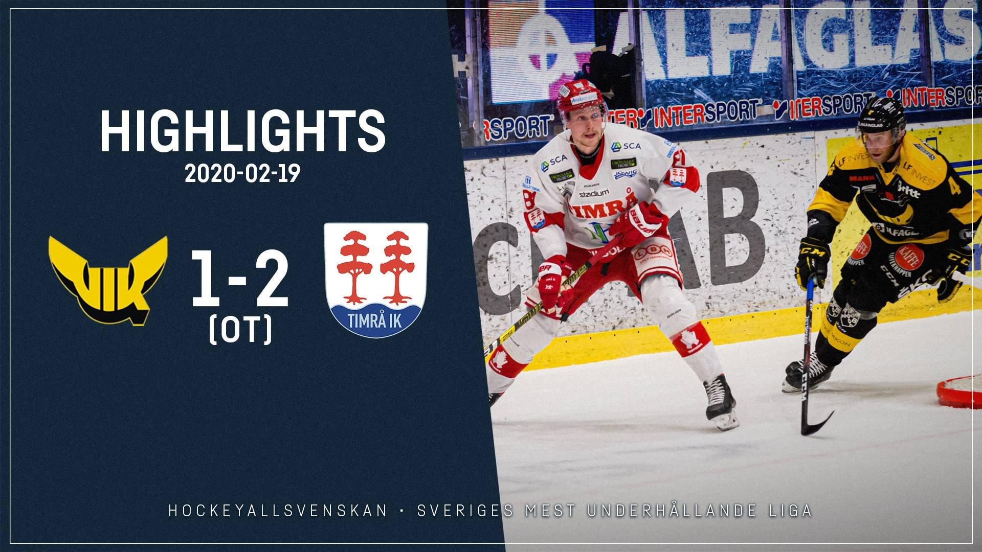 2020-02-19 Västerås - Timrå 1-2 (OT)
