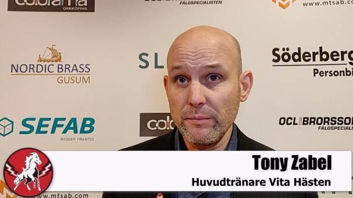 Tony Zabel efter Västerås