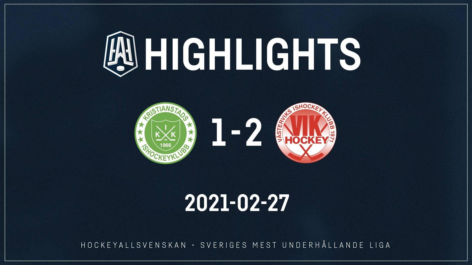 2021-02-27 Kristianstad - Västervik 1-2