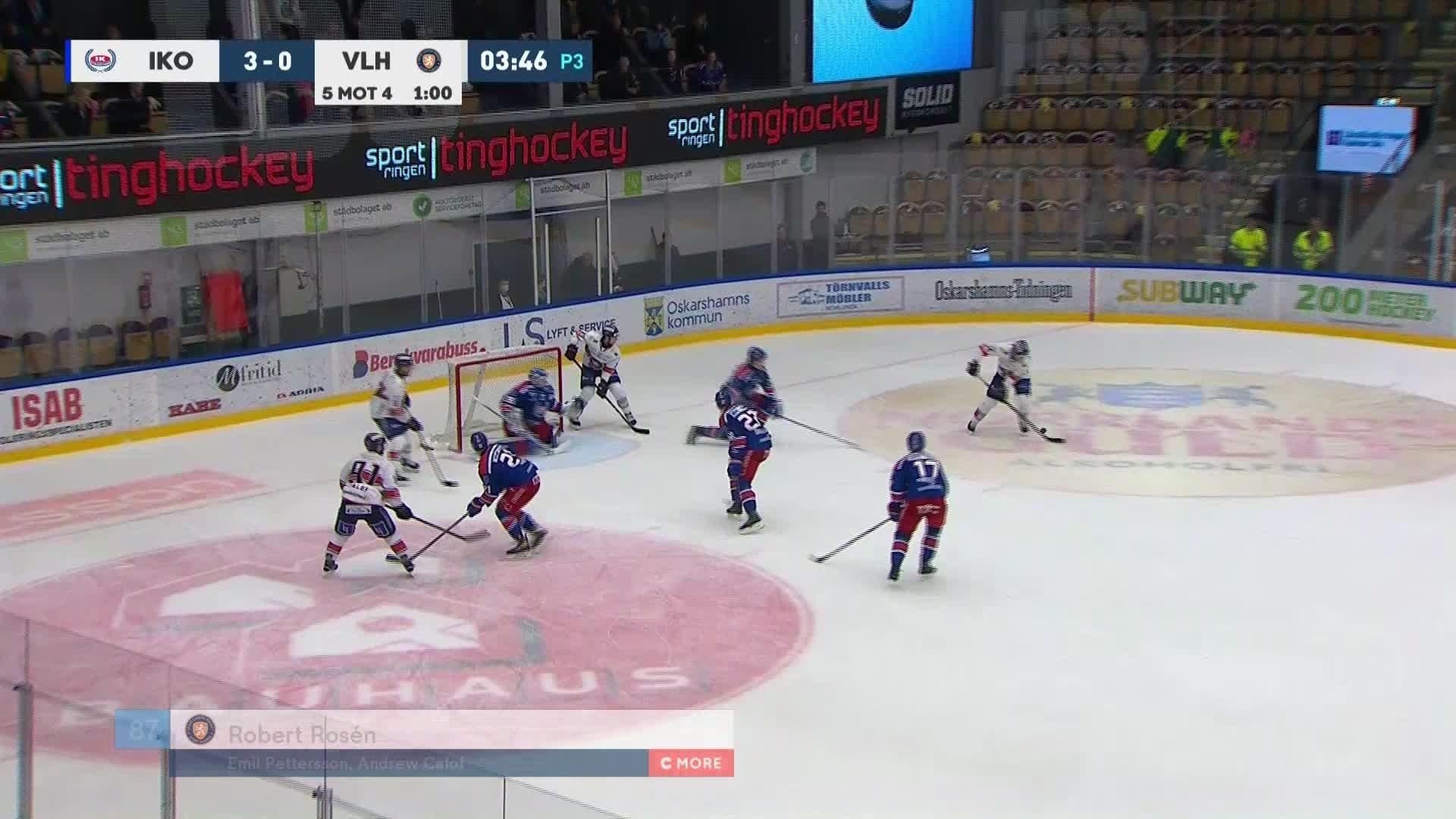 IK Oskarshamn - Växjö Lakers 3-1