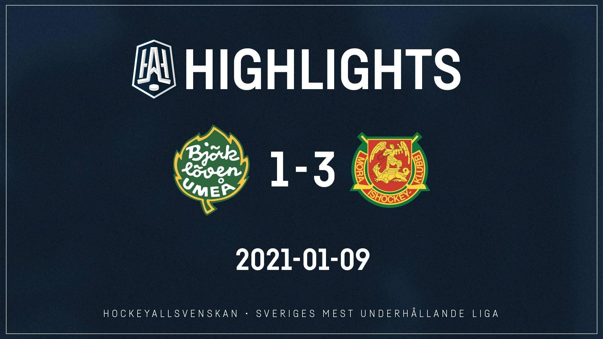 2021-01-09 Björklöven - Mora 1-3