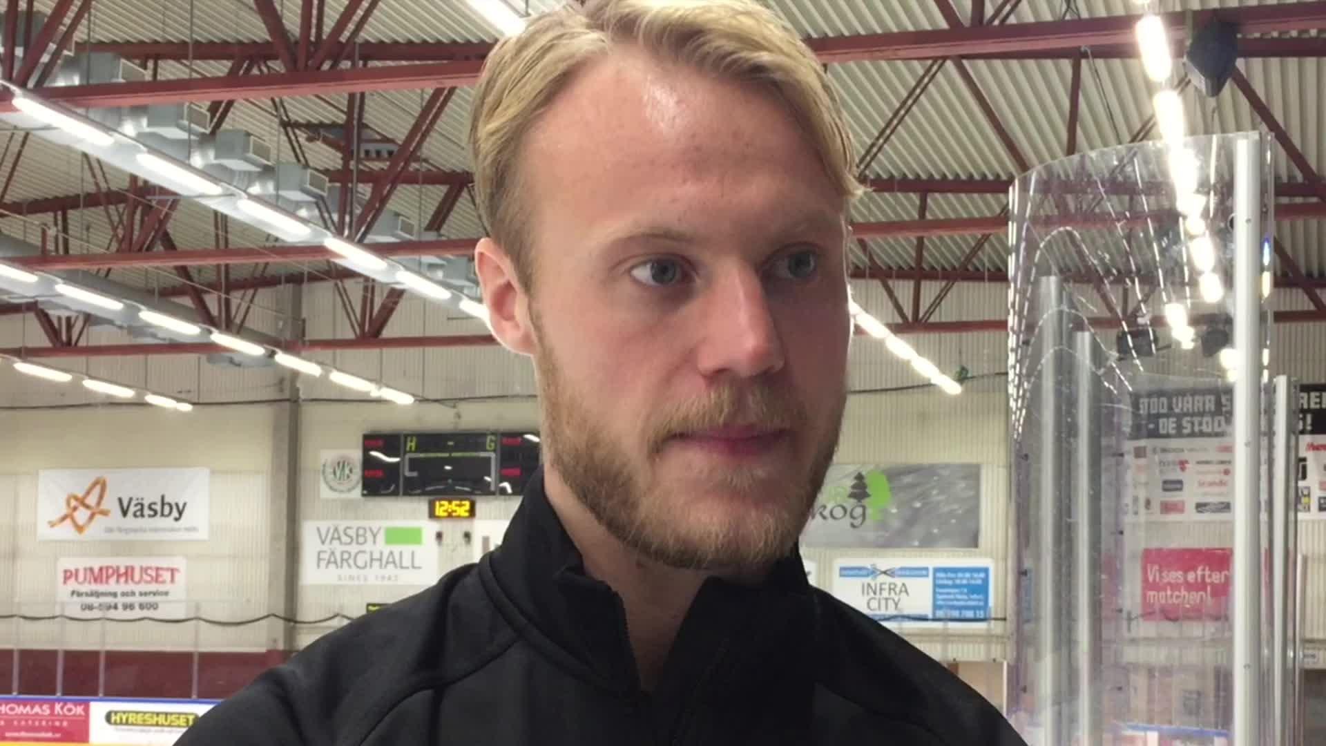 """Väsby-TV: Jacob Spångberg inför Karlskoga: """"Det här kommer bli viktigt för oss"""""""