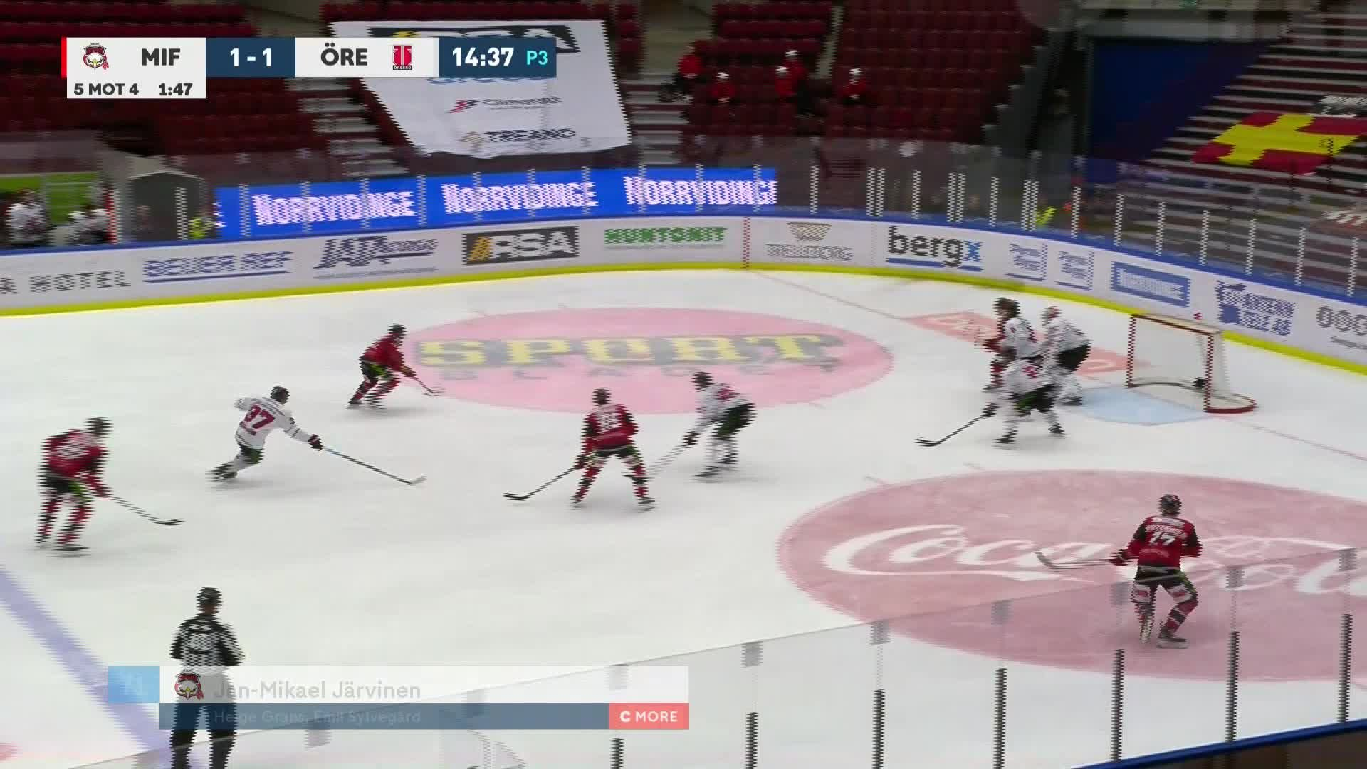 Malmö Redhawks - Örebro Hockey 2-1
