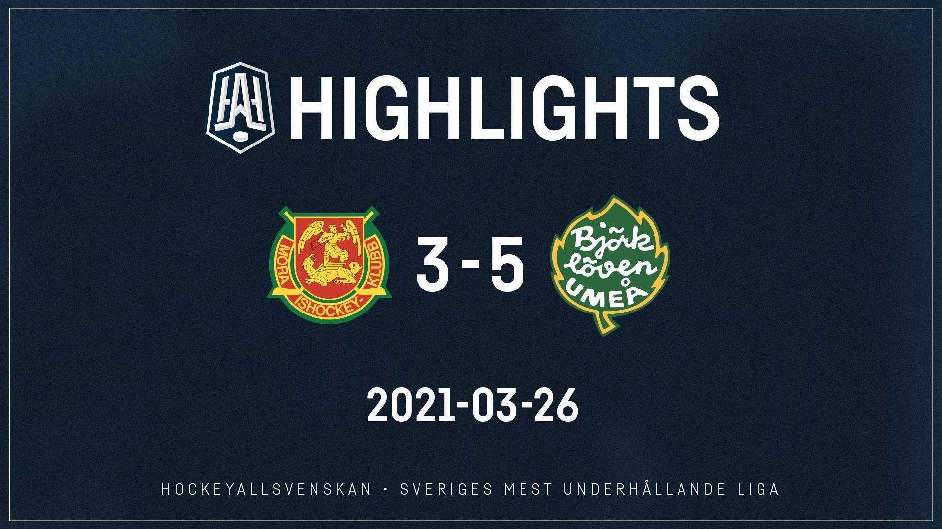 2021-03-26 Mora - Björklöven 3-5
